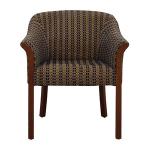 Blue and Gold Accent Chair coupon