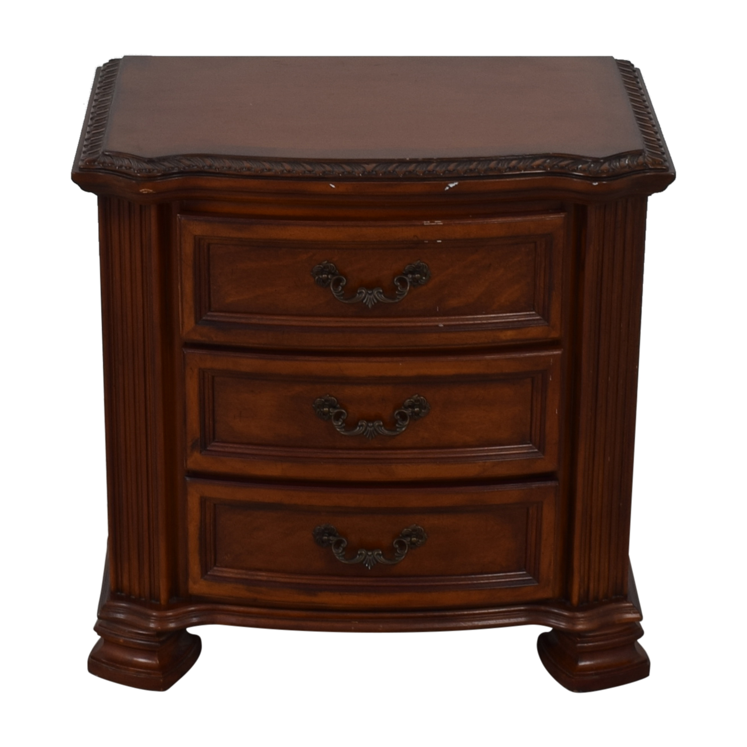 shop Raymour & Flanigan Three Drawer Nightstand Raymour & Flanigan Tables
