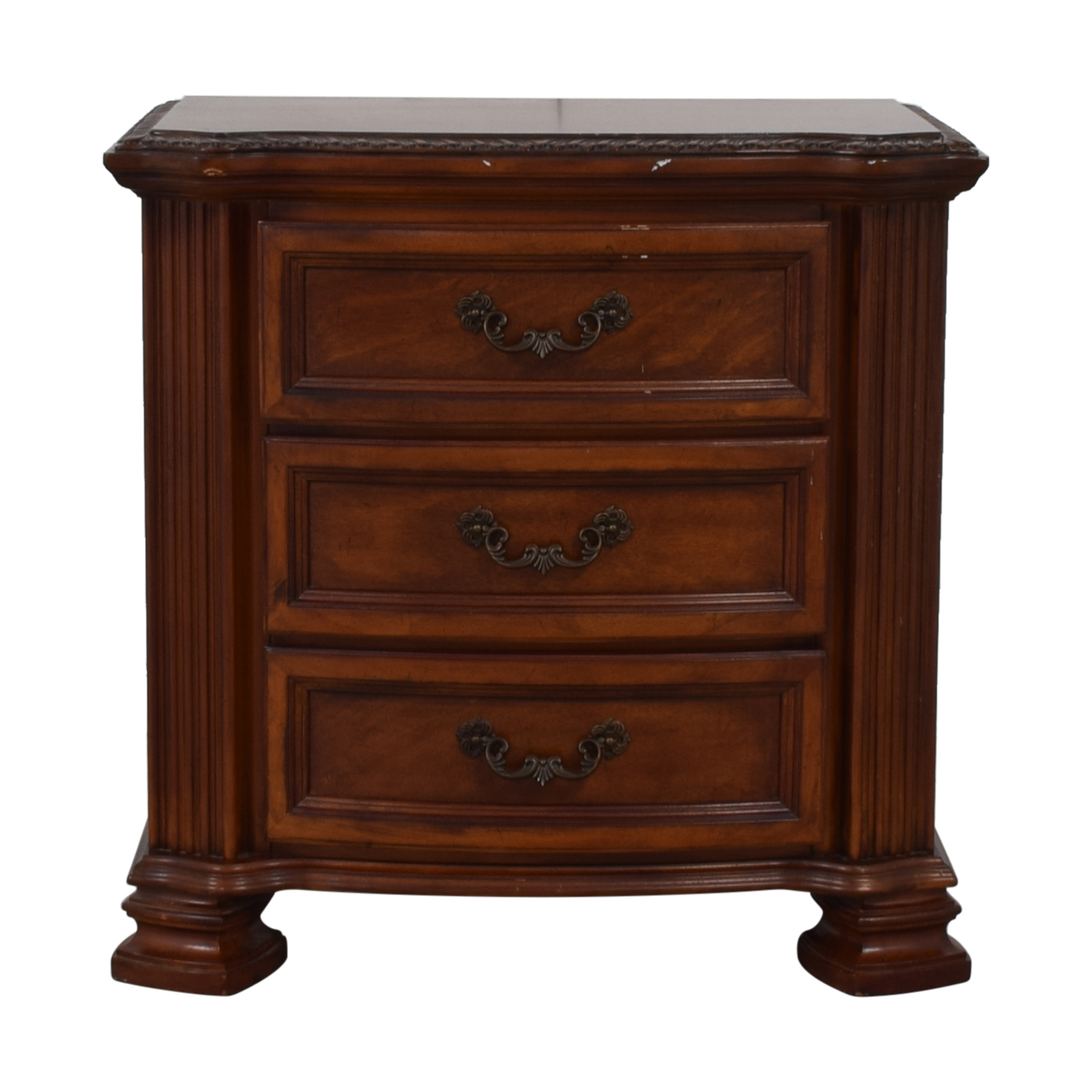 shop Raymour & Flanigan Three Drawer Nightstand Raymour & Flanigan End Tables