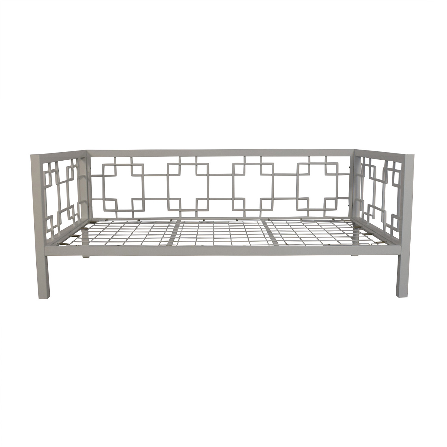 shop Horchow White Geometric Daybed Horchow