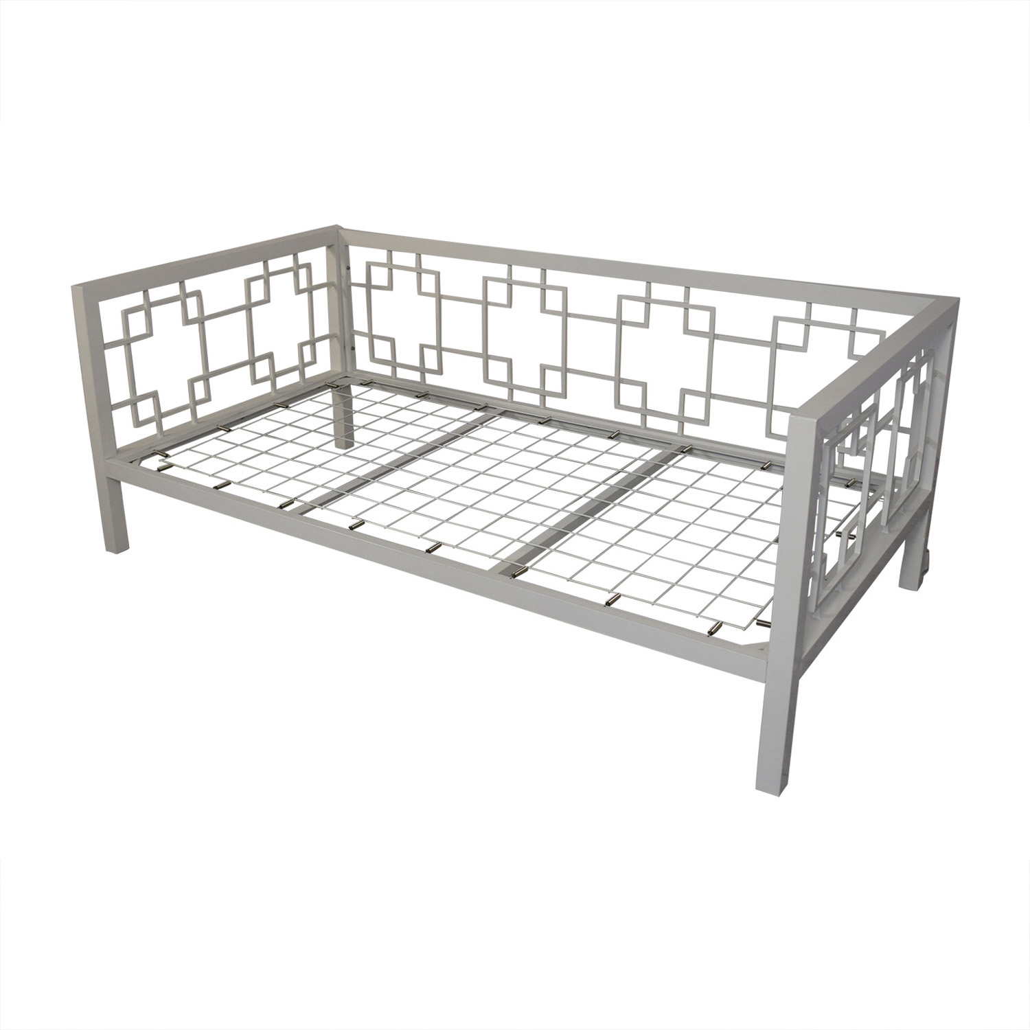 buy Horchow White Geometric Daybed Horchow Beds