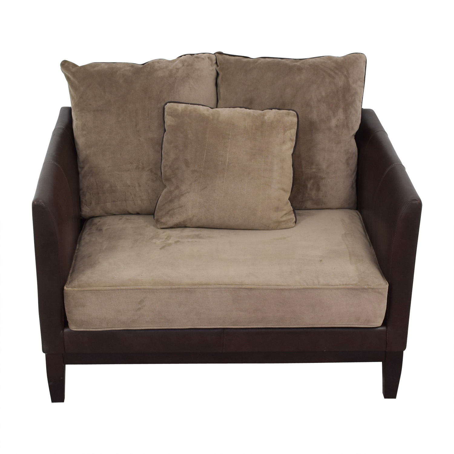Bernhardt Bernhardt Two-Tone Brown and Beige Accent Chair coupon