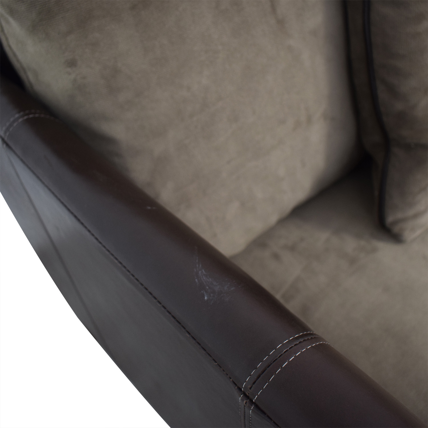buy Bernhardt Two-Tone Brown and Beige Accent Chair Bernhardt Chairs