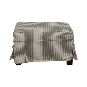Pottery Barn PB Comfort Slipcovered Ottoman sale
