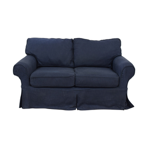 Pottery Barn Pottery Barn Comfort Blue Slipcovered Loveseat dimensions