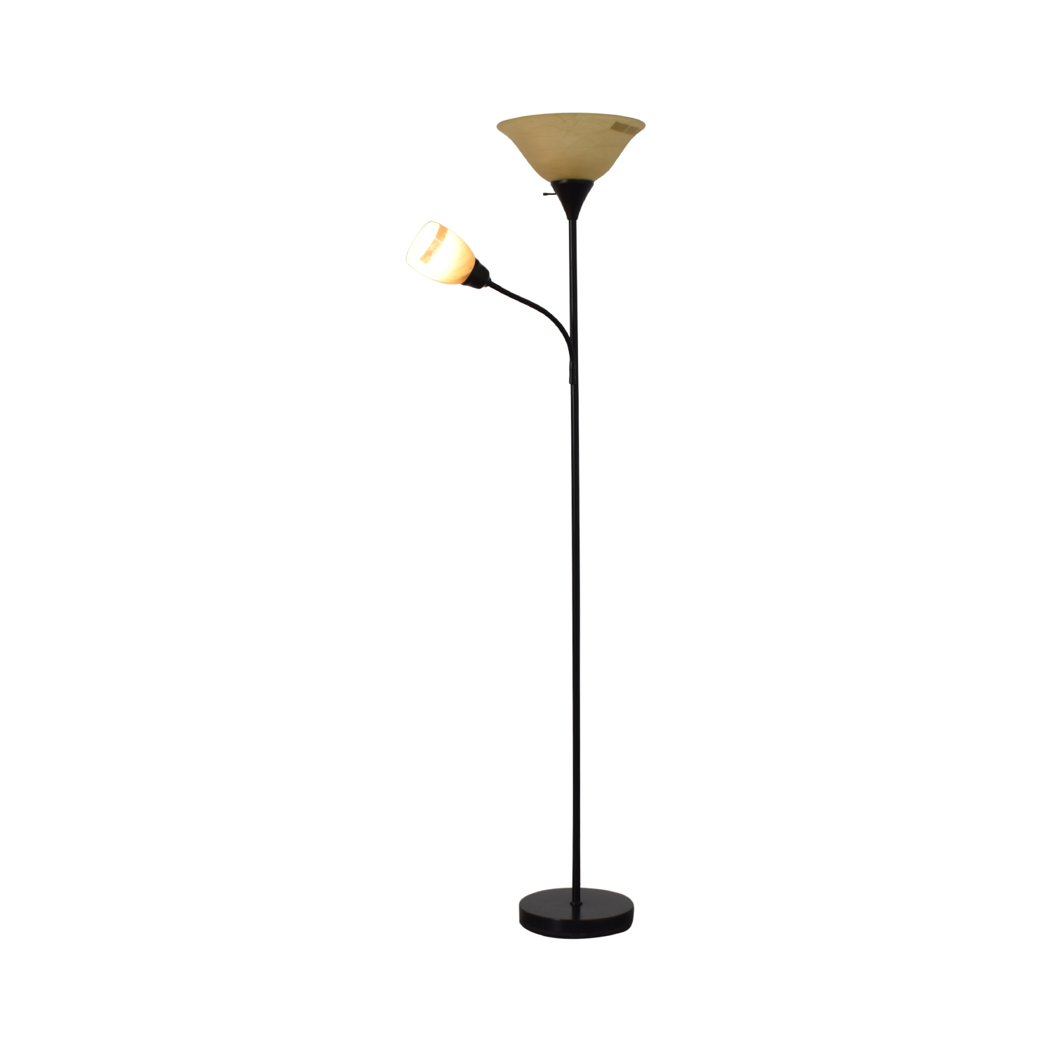 Black Double Floor Lamp black