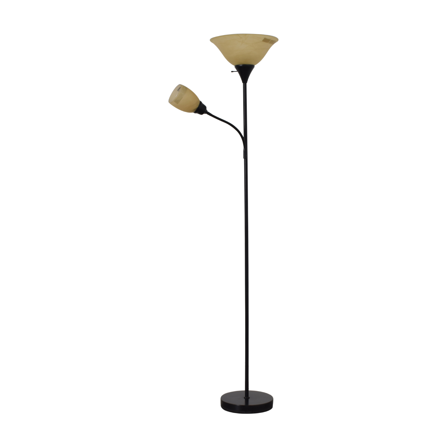 Black Double Floor Lamp