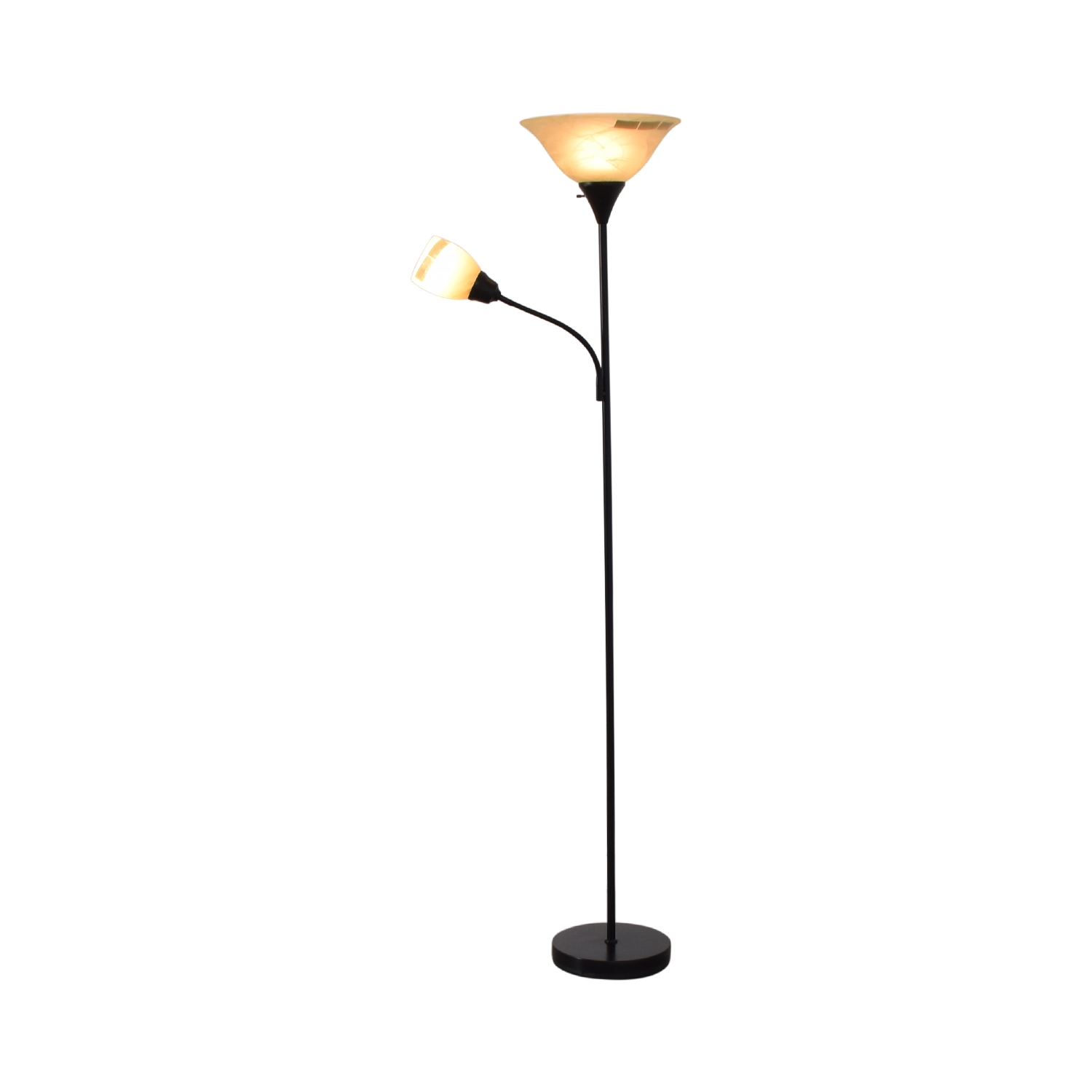 shop Black Double Floor Lamp  Decor