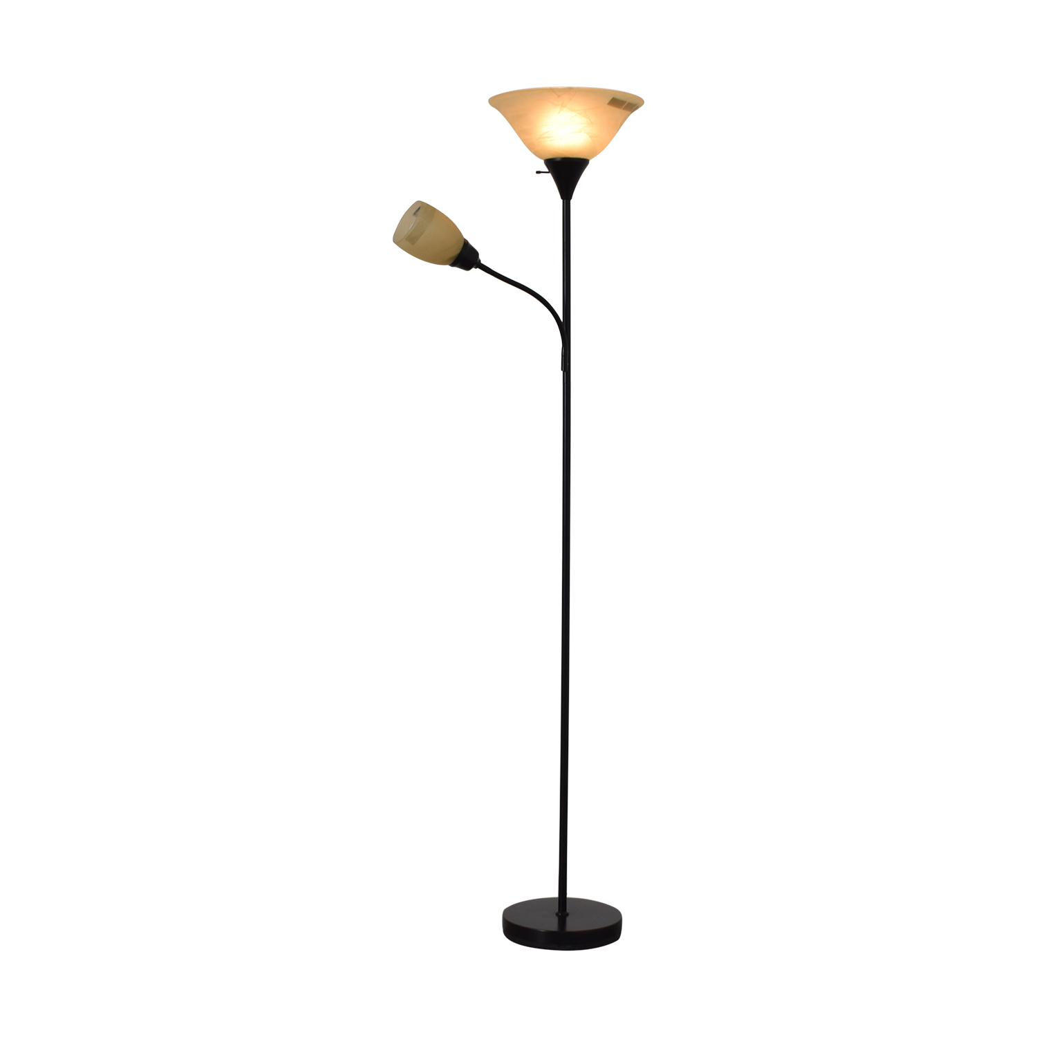Black Double Floor Lamp on sale