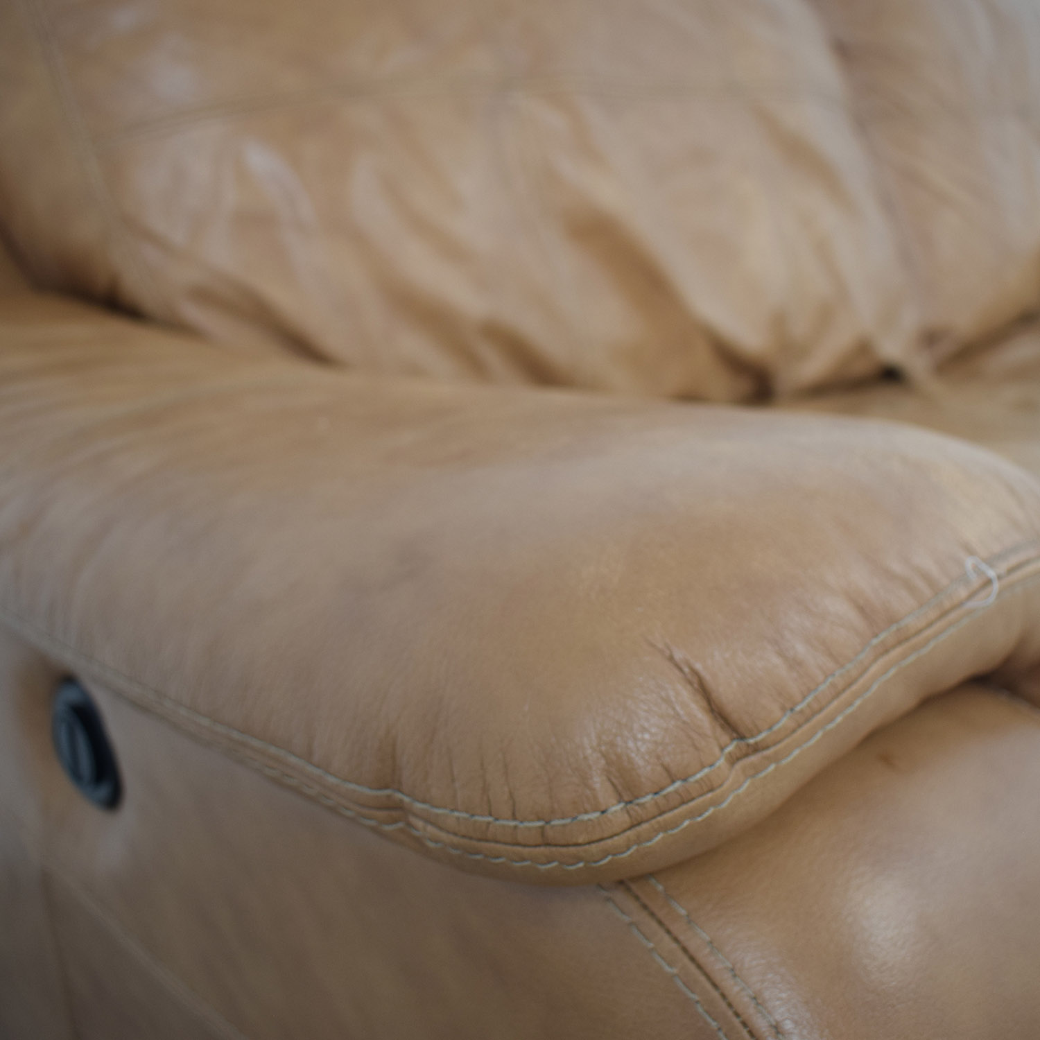 Leather Reclining Loveseat dimensions