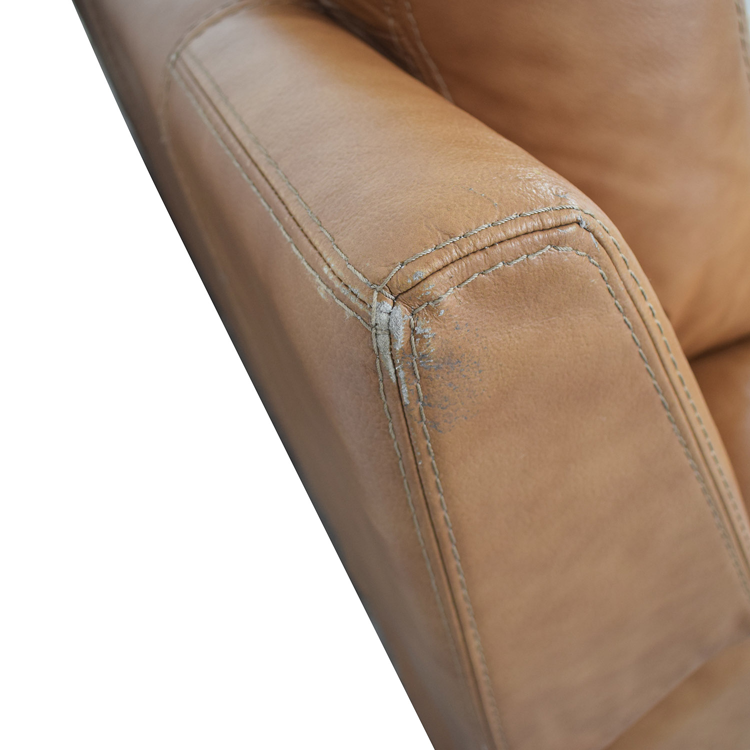shop Leather Reclining Loveseat