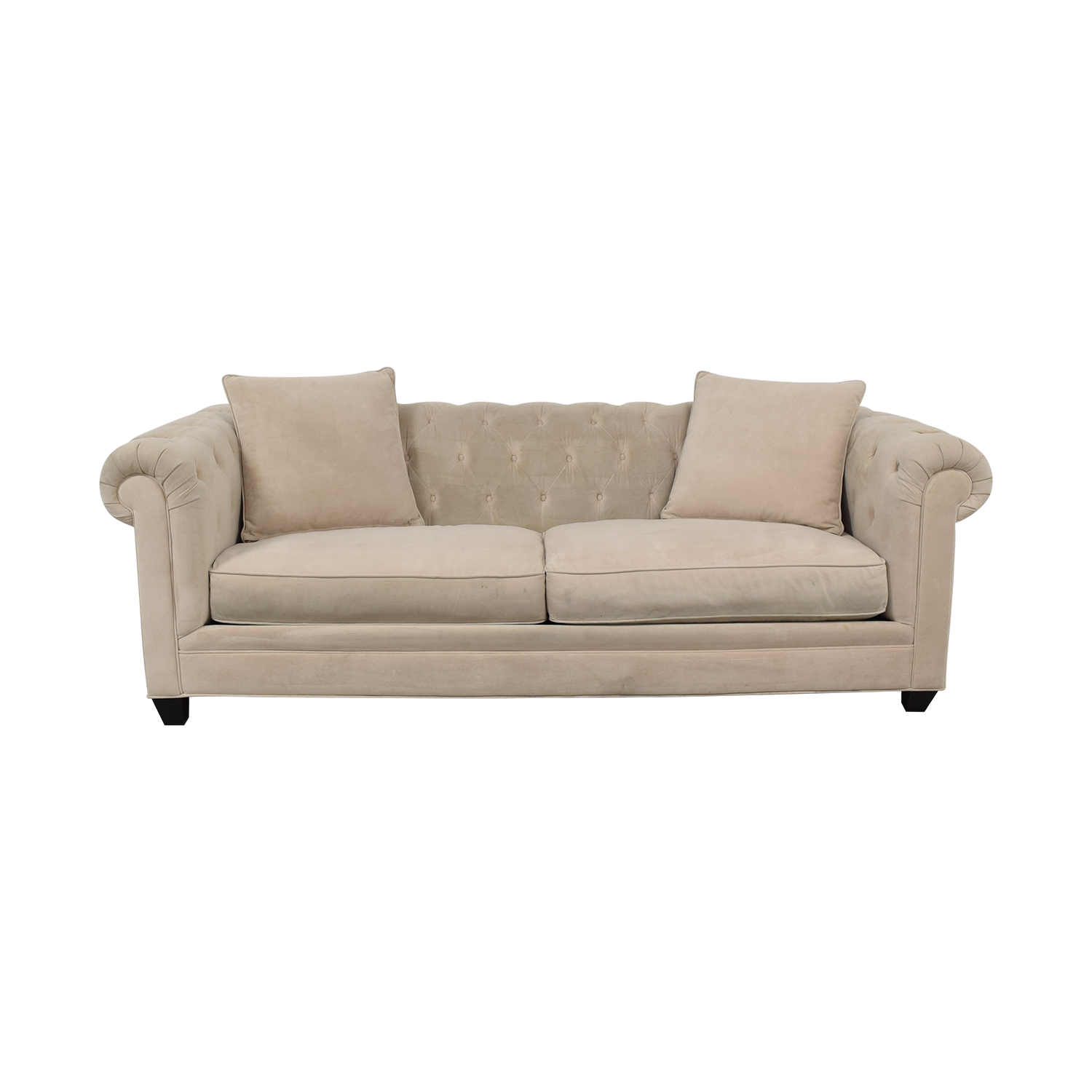 shop Jonathan Louis Saybridge Beige Tufted Two-Cushion Sofa Jonathan Louis Sofas
