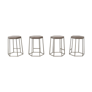 CB2 CB2 Hex Champagne Grey Bar Stools on sale