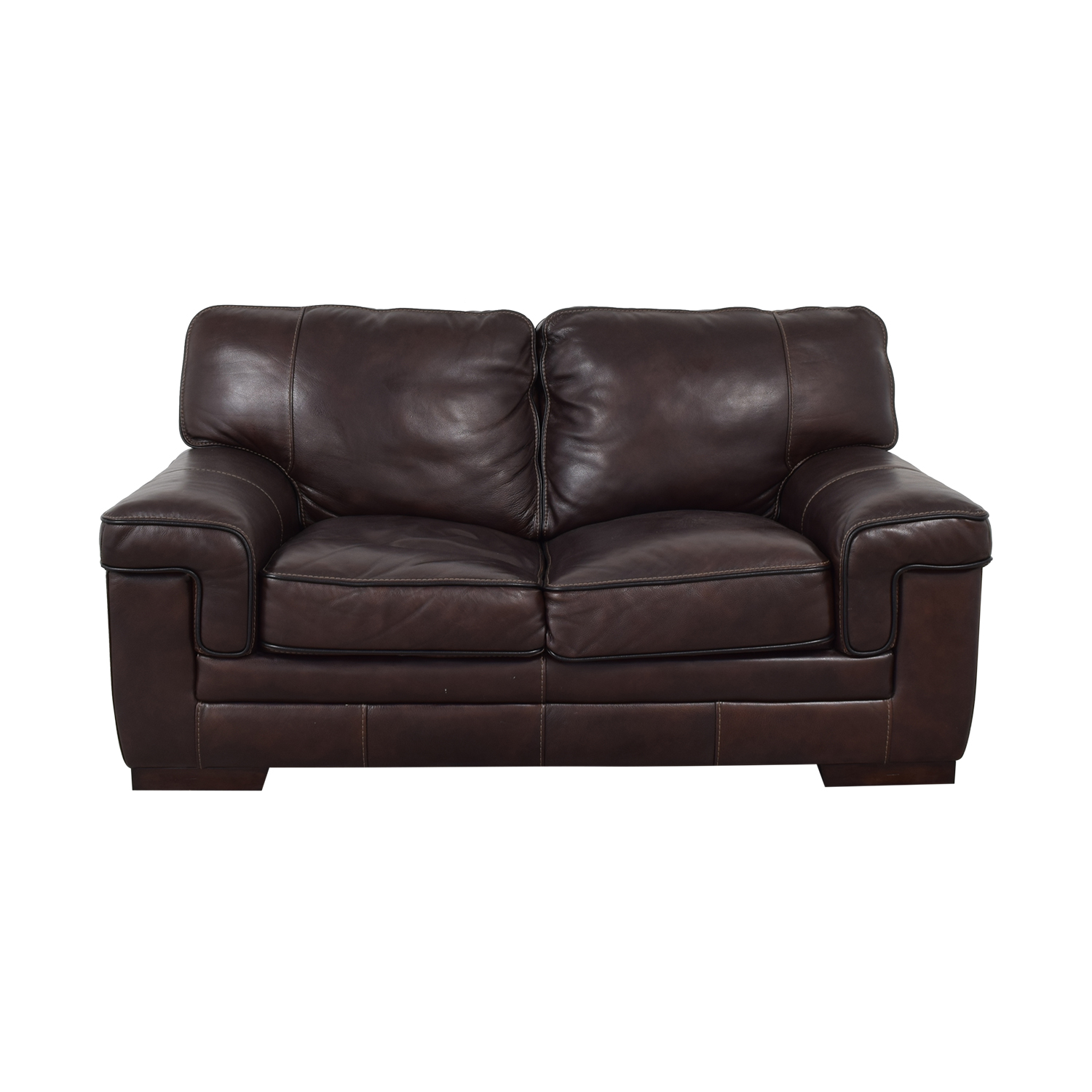 Simon Li Simon Li Stampede Coffee Brown Loveseat for sale