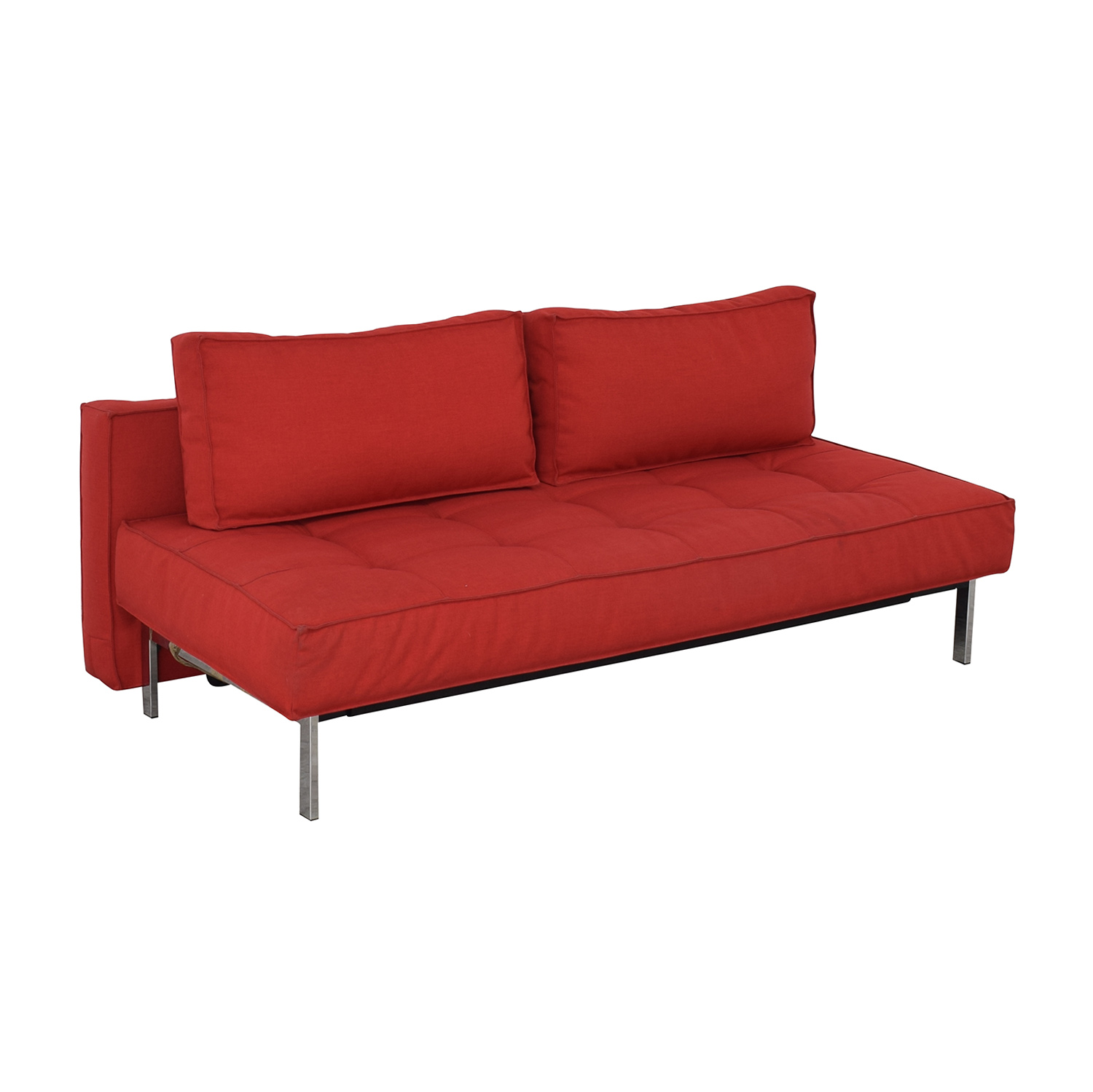 Innovation Living Innovation Living Red Tufted Twin Sleeper Sofa used