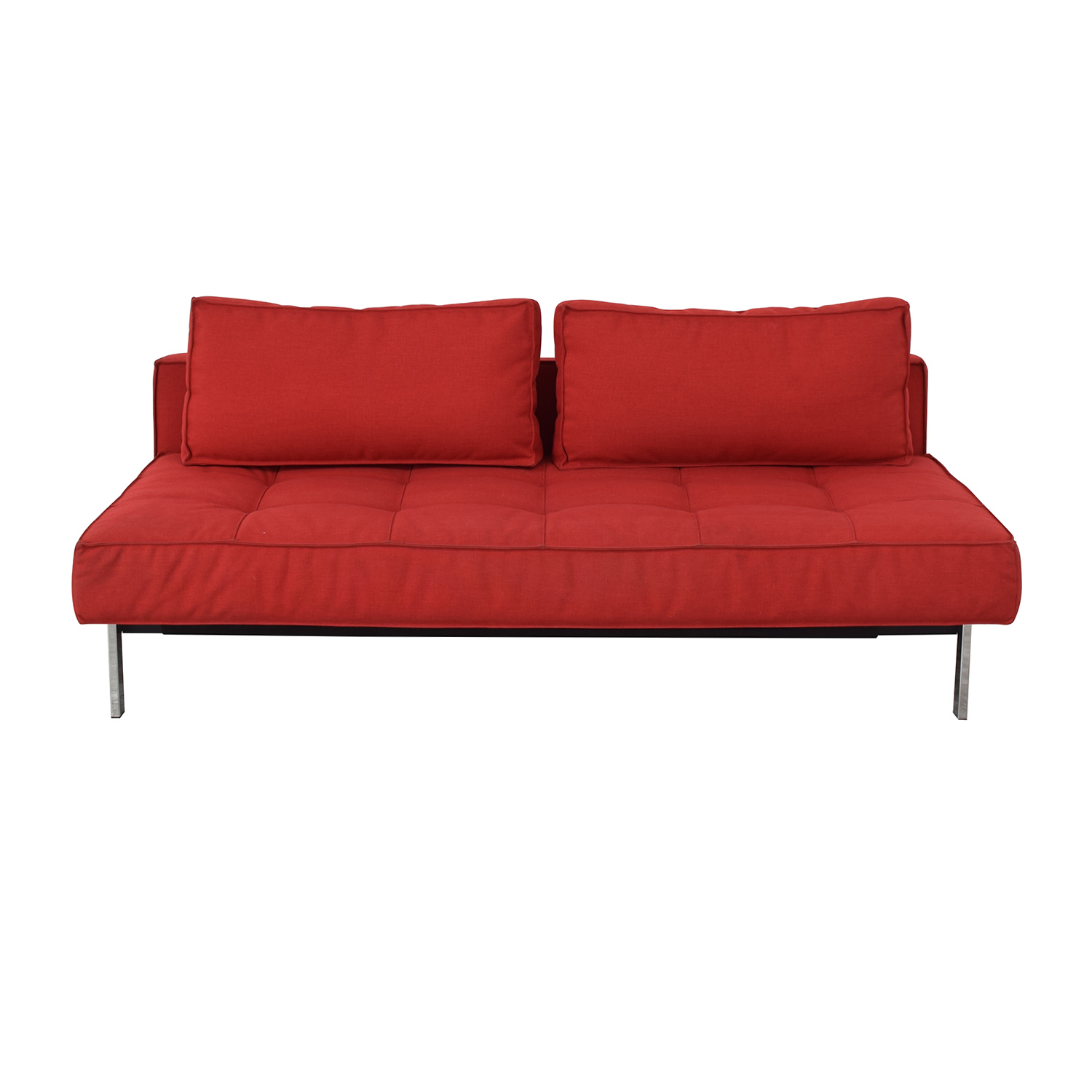 Innovation Living Innovation Living Red Tufted Twin Sleeper Sofa dimensions