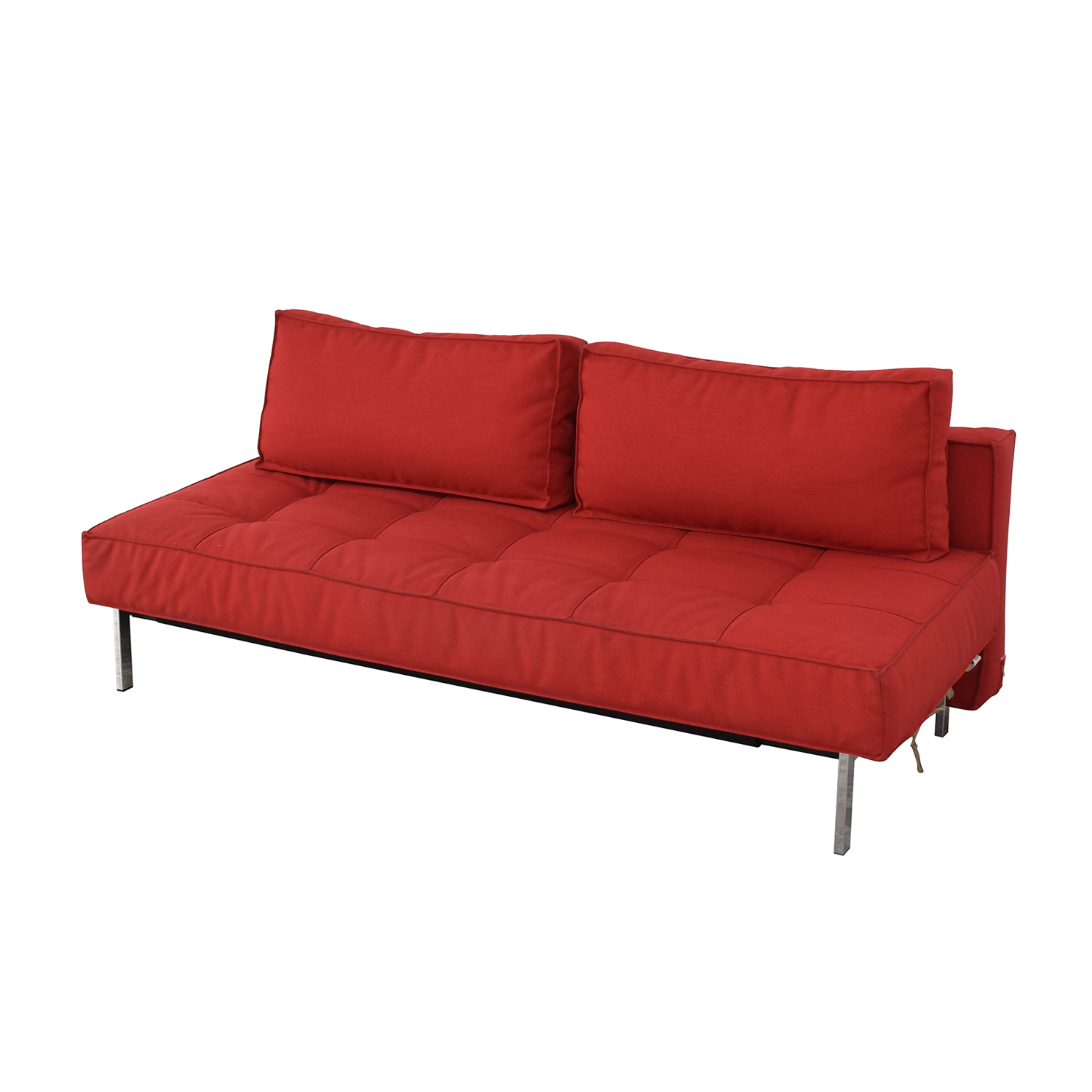 shop Innovation Living Red Tufted Twin Sleeper Sofa Innovation Living Classic Sofas