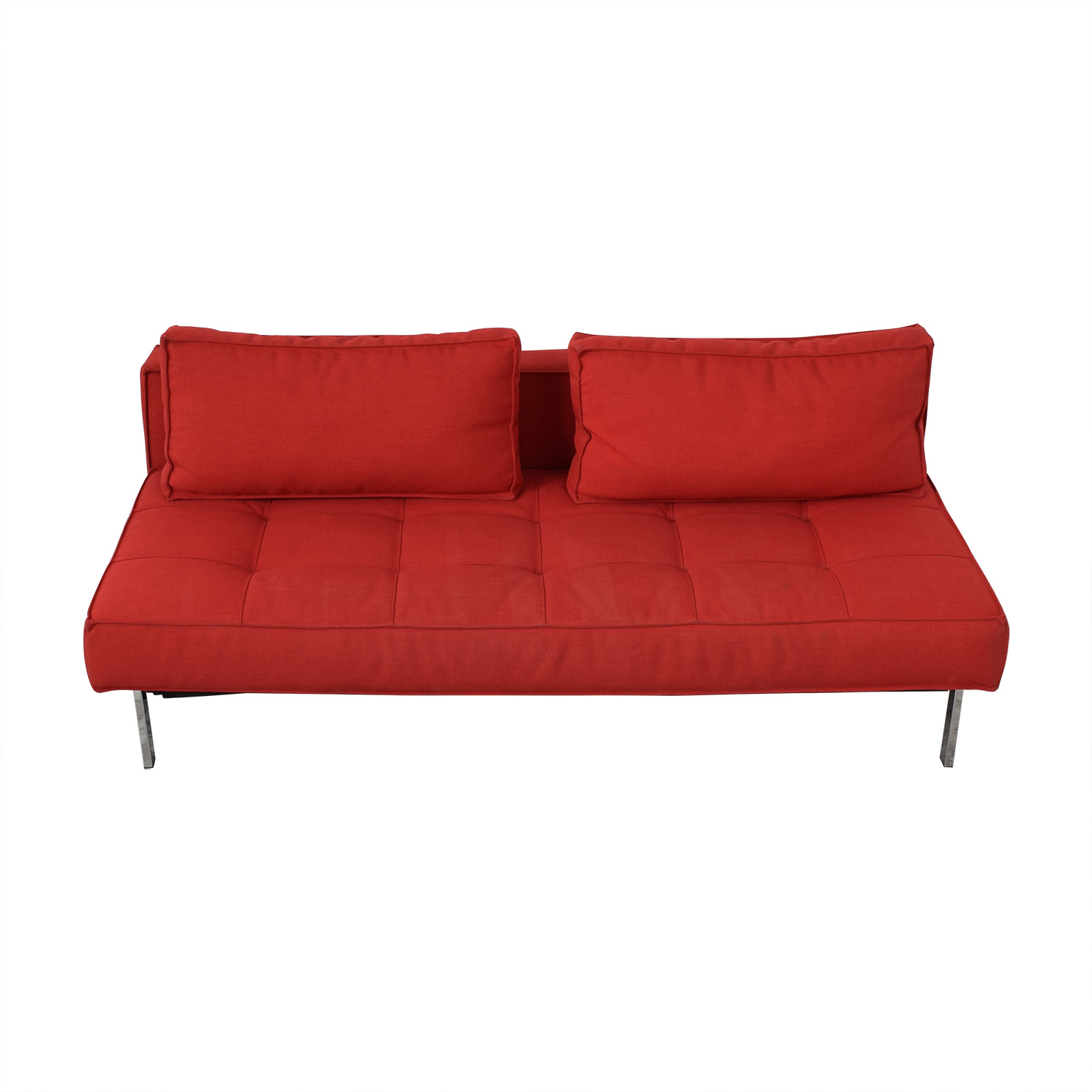 Innovation Living Innovation Living Red Tufted Twin Sleeper Sofa on sale