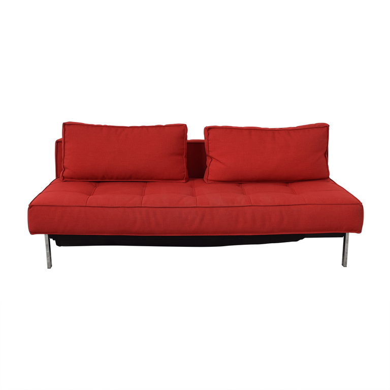 Innovation Living Innovation Living Red Tufted Twin Sleeper Sofa nj