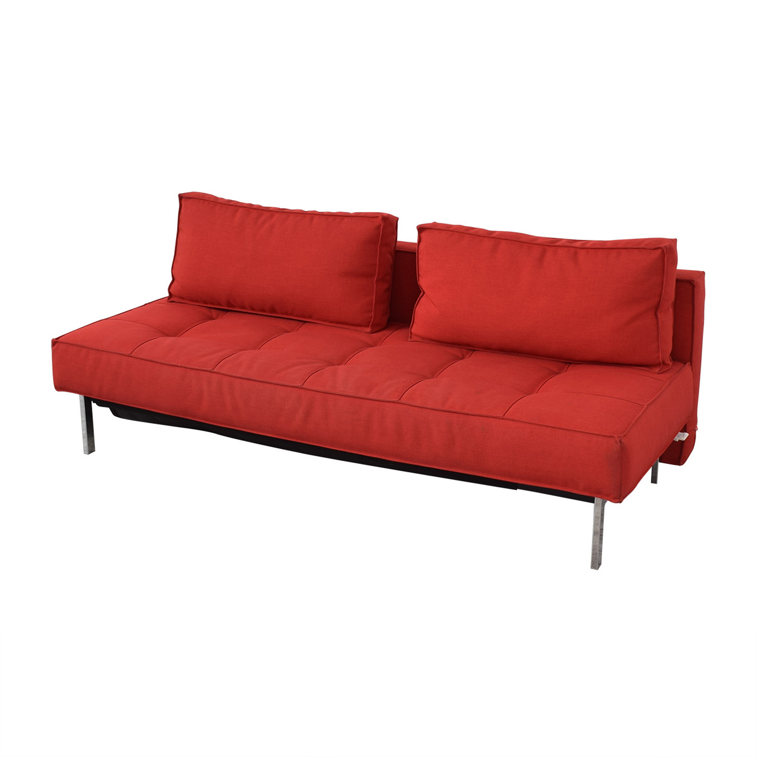 buy Innovation Living Innovation Living Red Tufted Twin Sleeper Sofa online