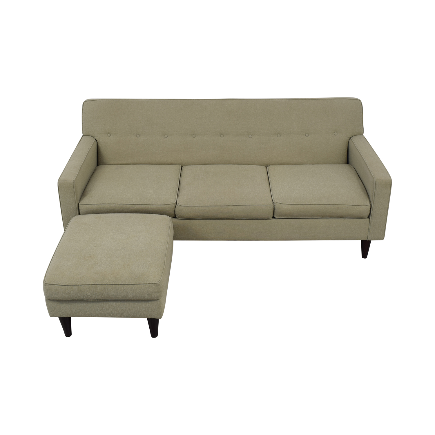 Max Home Furniture Max Home Mid-Century Style Sofa With Ottoman second hand