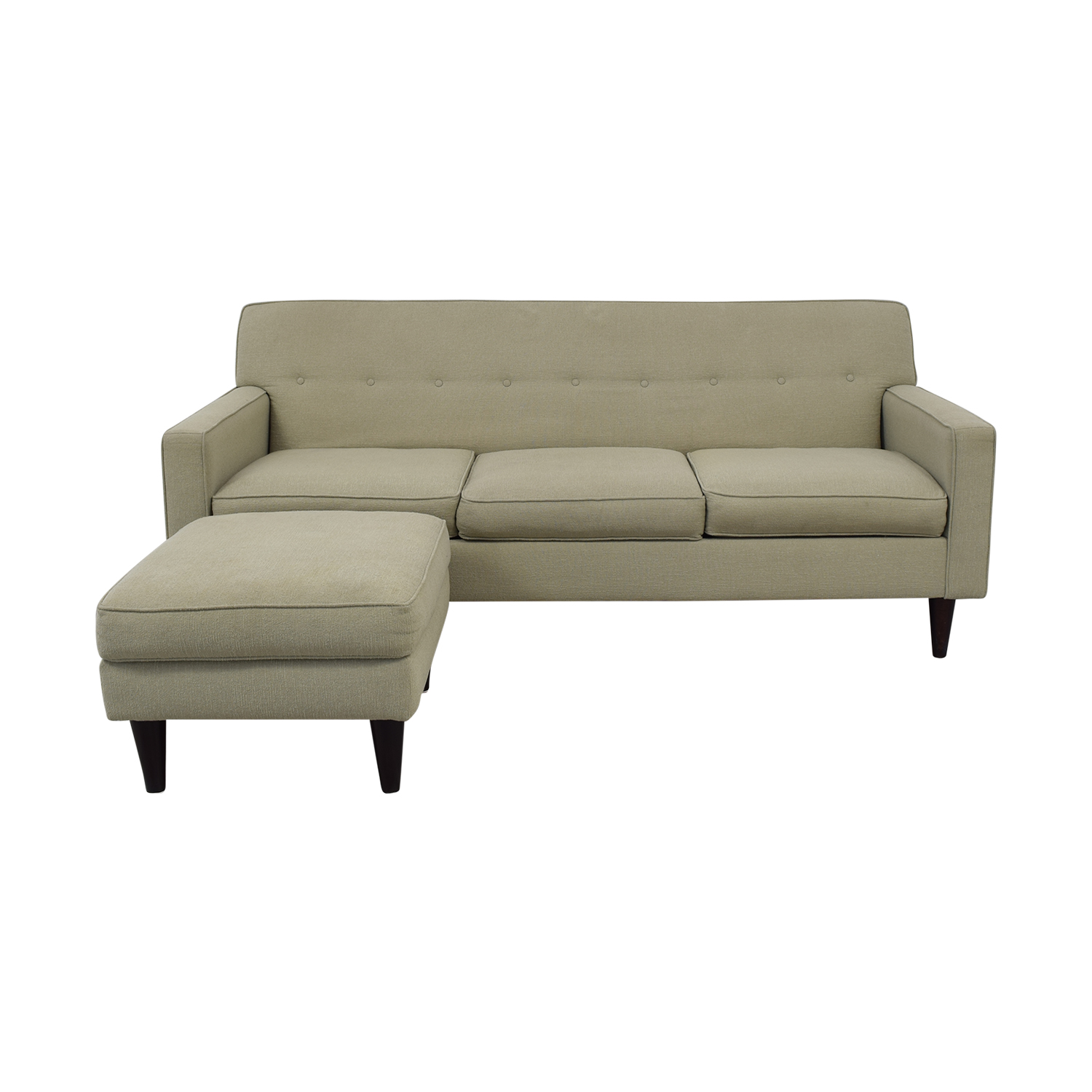 Max Home Furniture Max Home Mid-Century Style Sofa With Ottoman Sofas