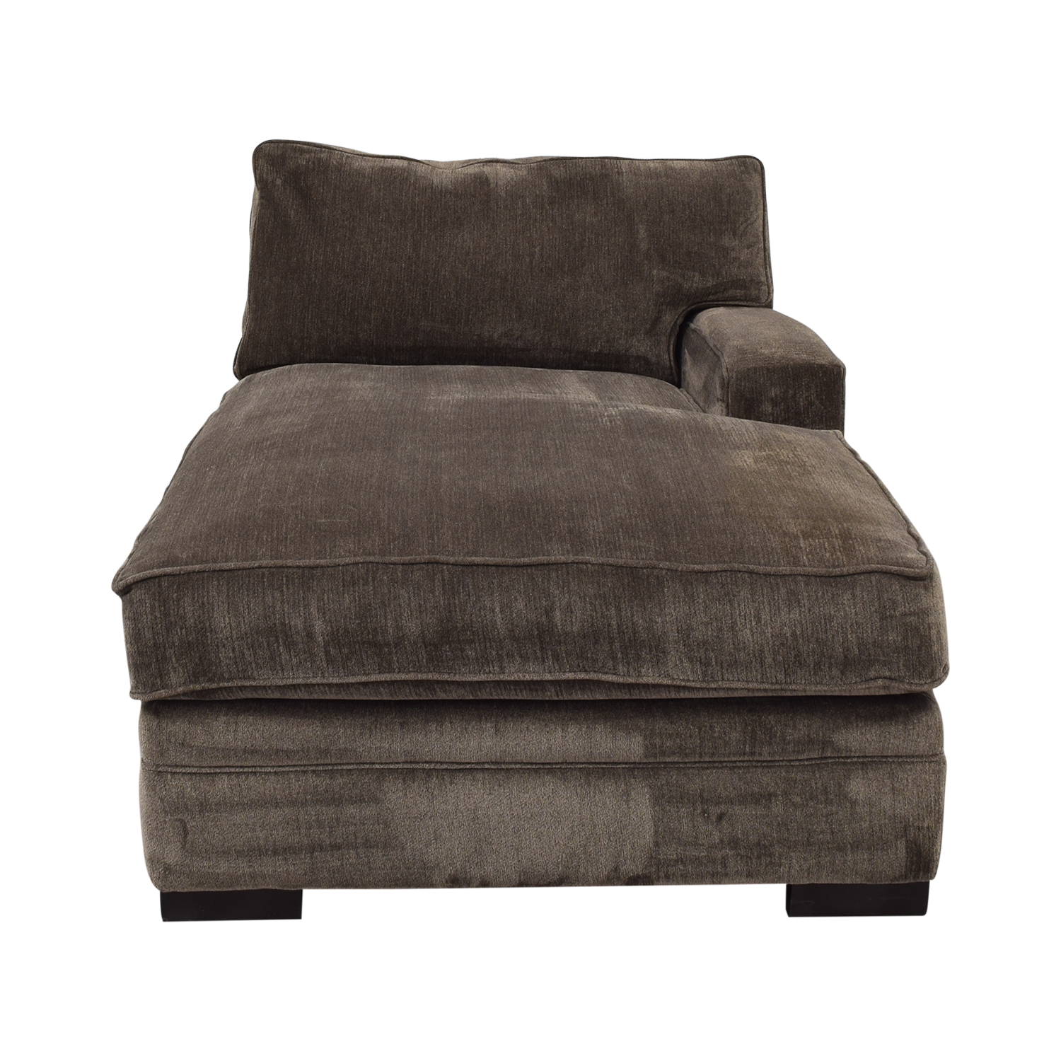 Macy's Macy's Teddy Brown Chaise Lounger Sofas