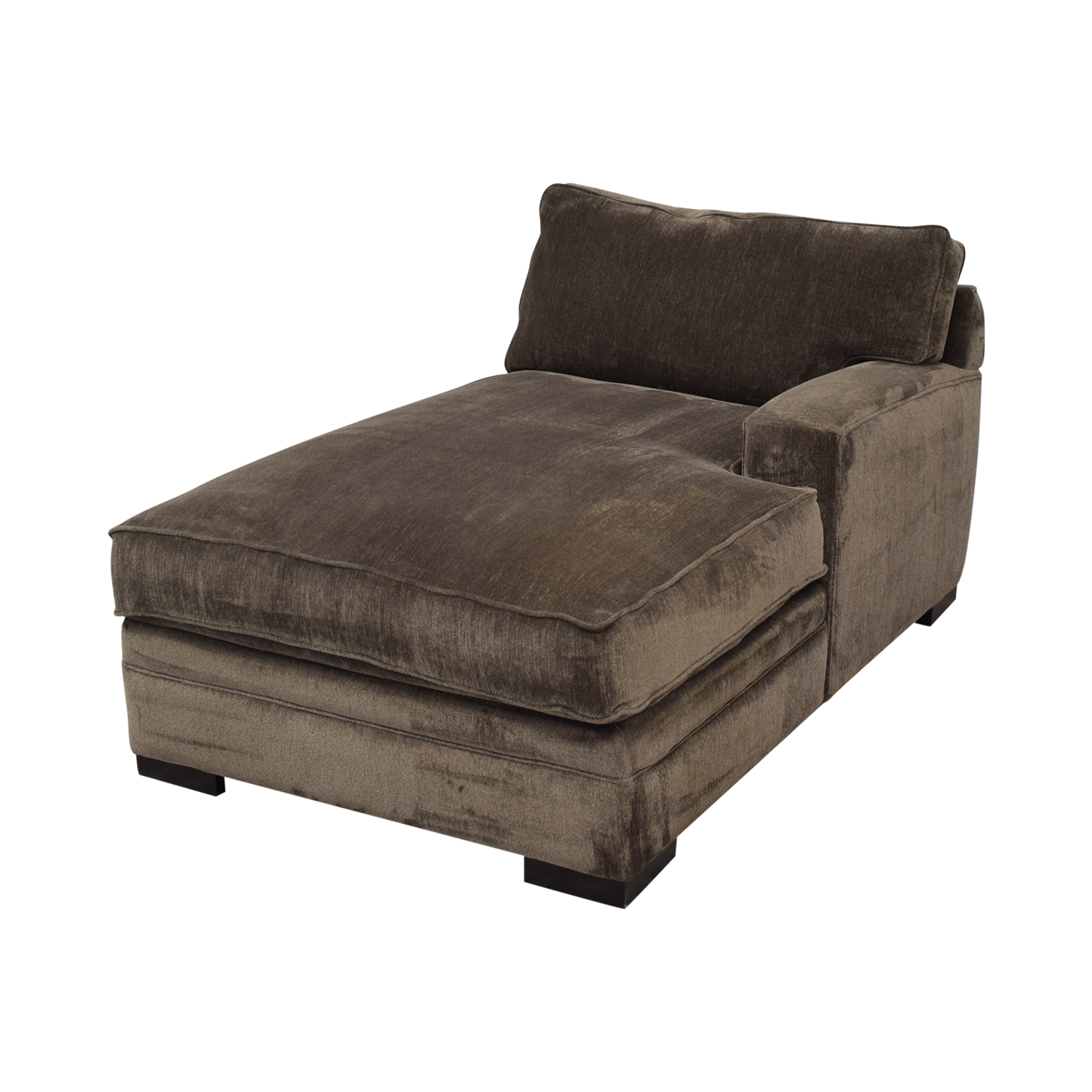 Macy's Macy's Teddy Brown Chaise Lounger nj