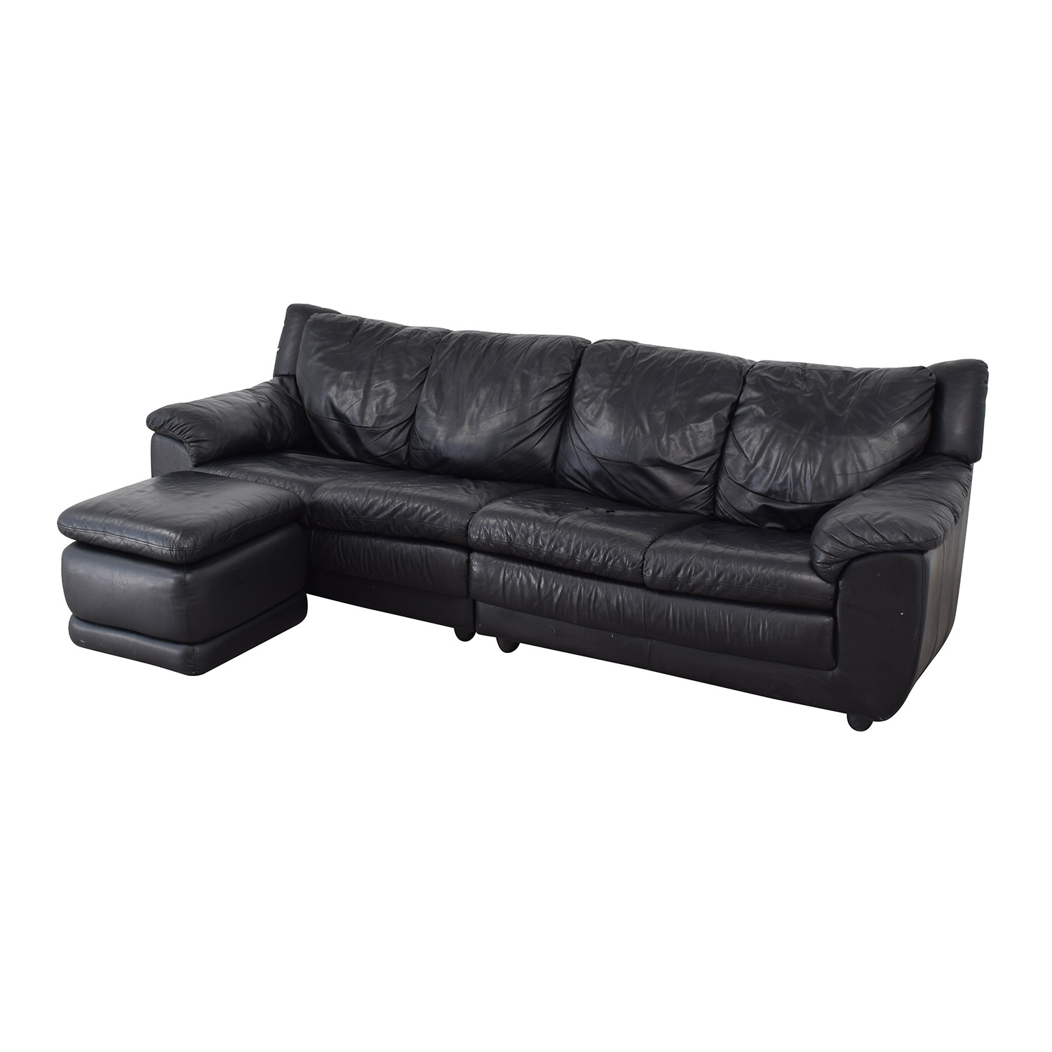 Nicoletti Home Nicoletti Home Black Four Cushion Couch with Ottoman coupon