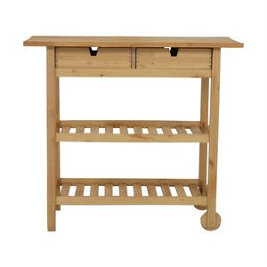 Two-Drawer Natural Wood Cart price