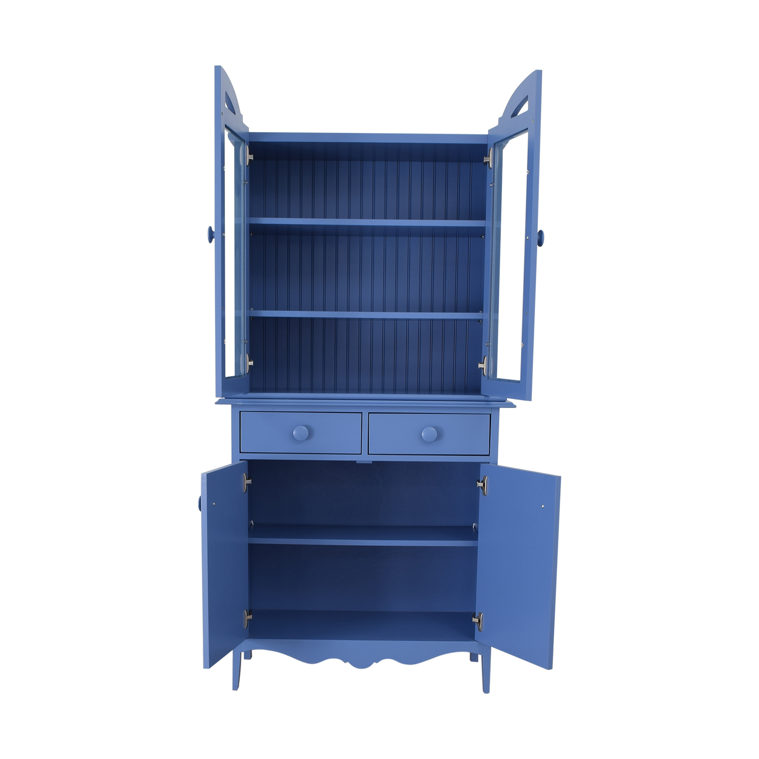Maine Cottage Maine Cottage Blue Two-Drawer Hutch nyc