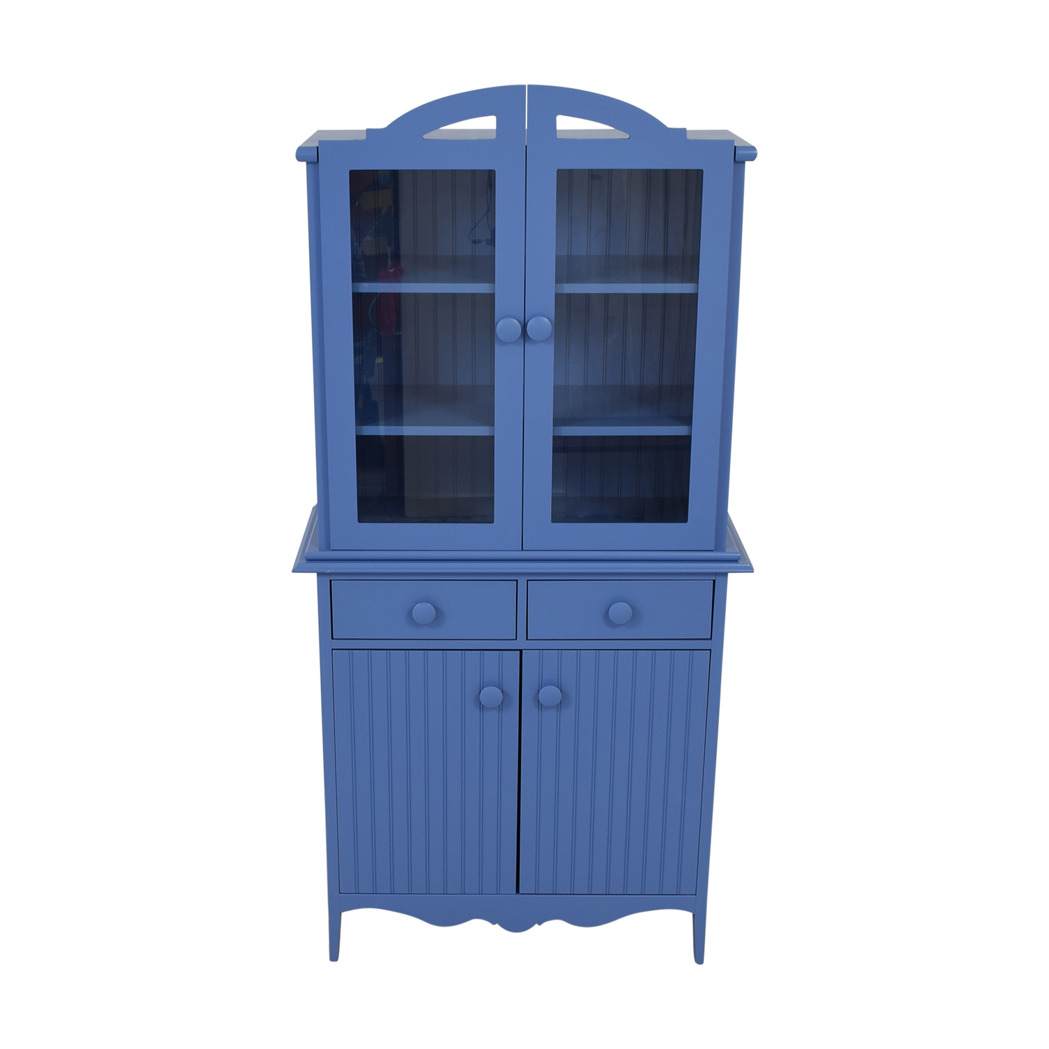 shop Maine Cottage Blue Two-Drawer Hutch Maine Cottage Wardrobes & Armoires