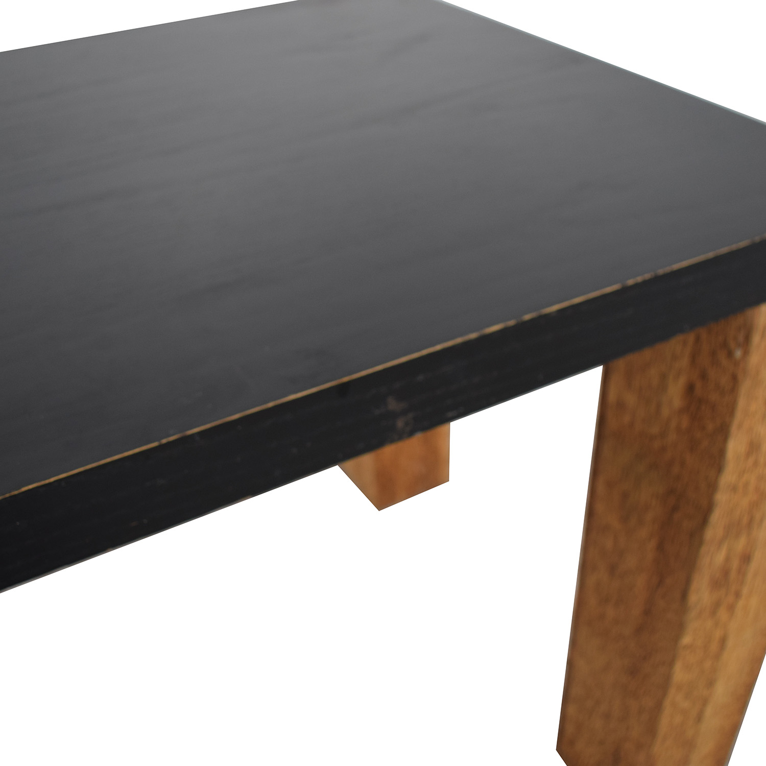 buy Custom Brazilian Palm Wood and Black Top Dining Table  Dinner Tables