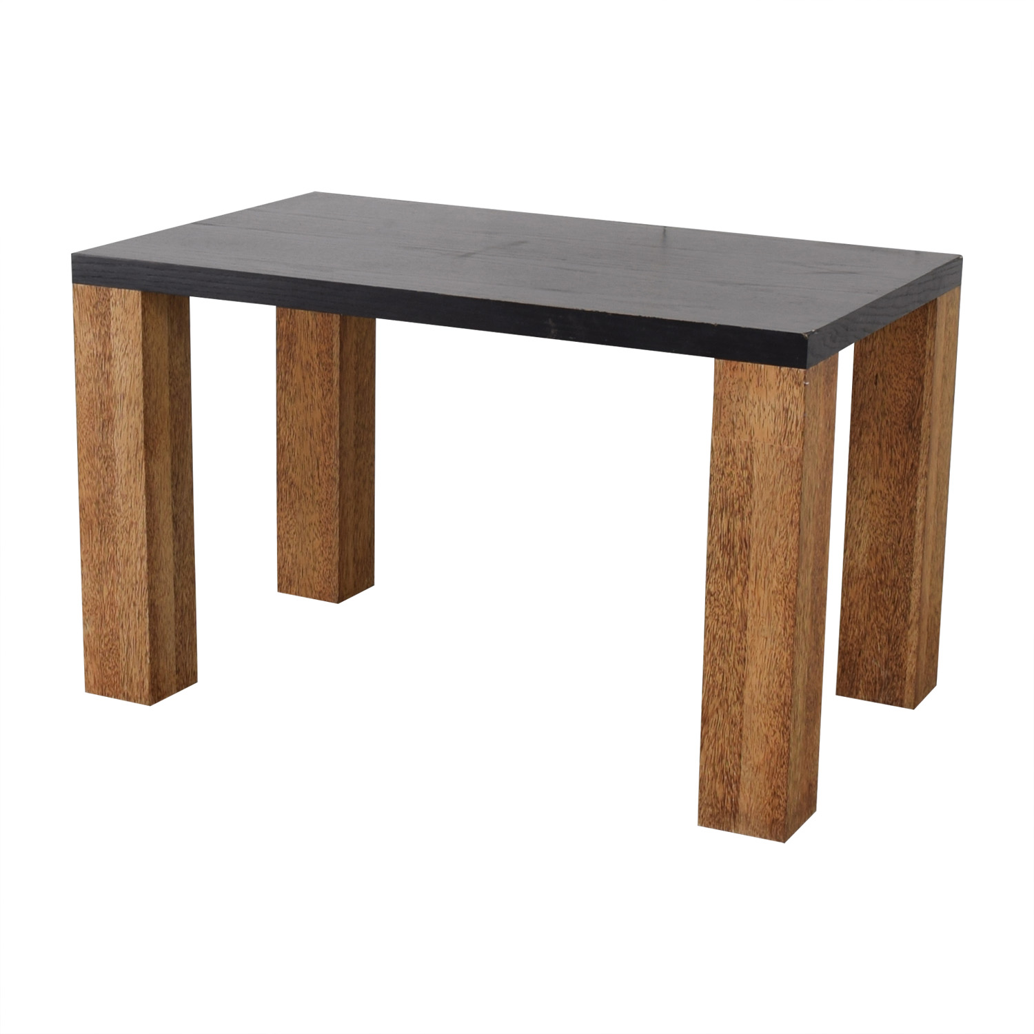 Custom Brazilian Palm Wood and Black Top Dining Table dimensions