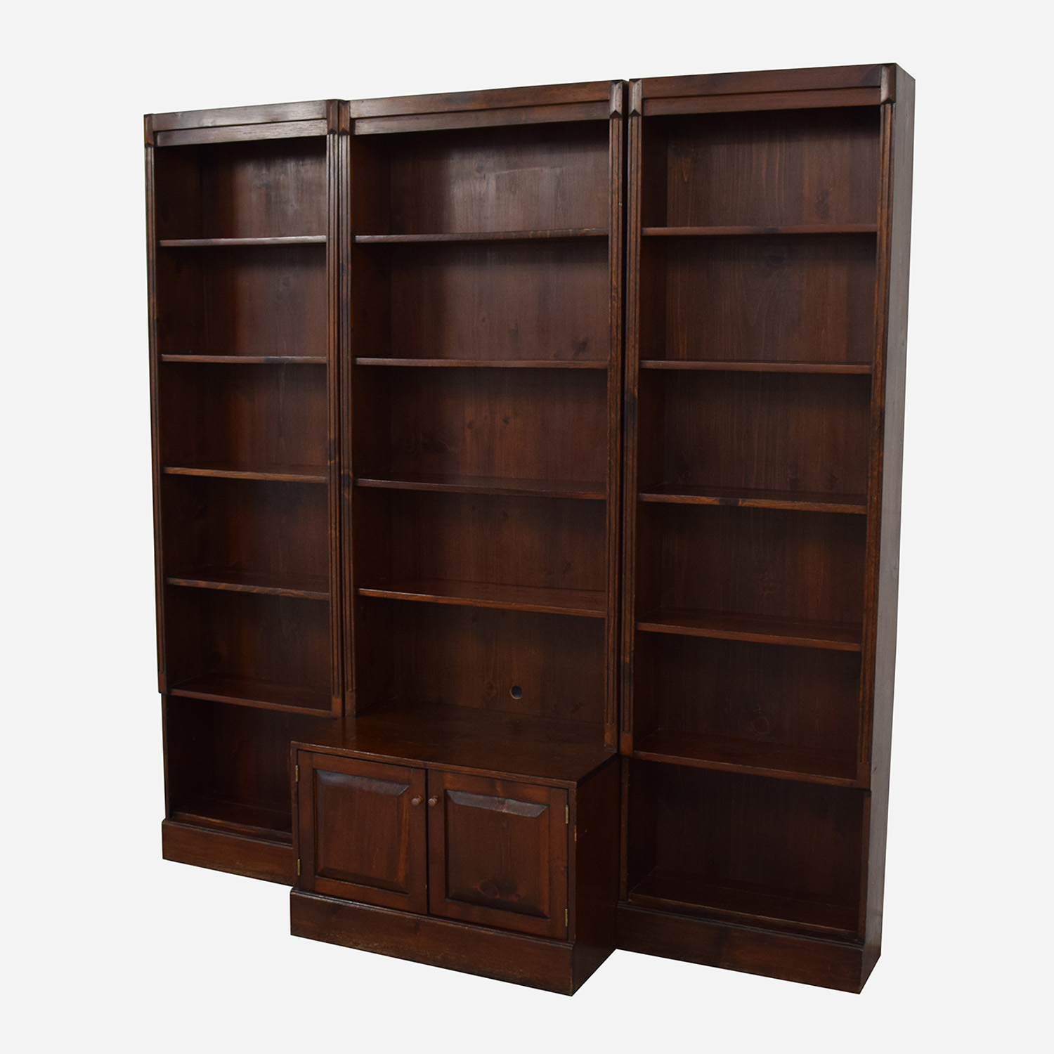 buy Three Bookshelves With Cabinet  Storage