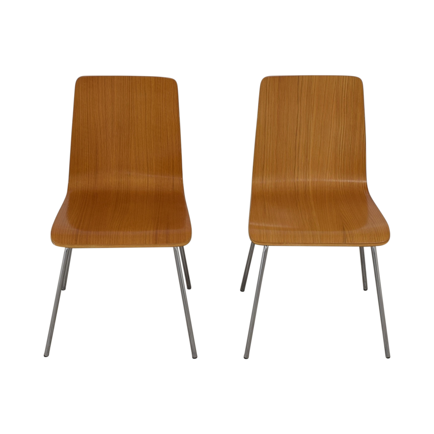 buy CB2 CB2 Brown Grain Accent Dining Chairs online