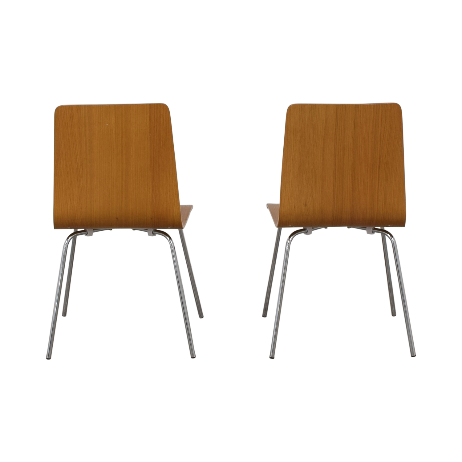 CB2 CB2 Brown Grain Accent Dining Chairs for sale
