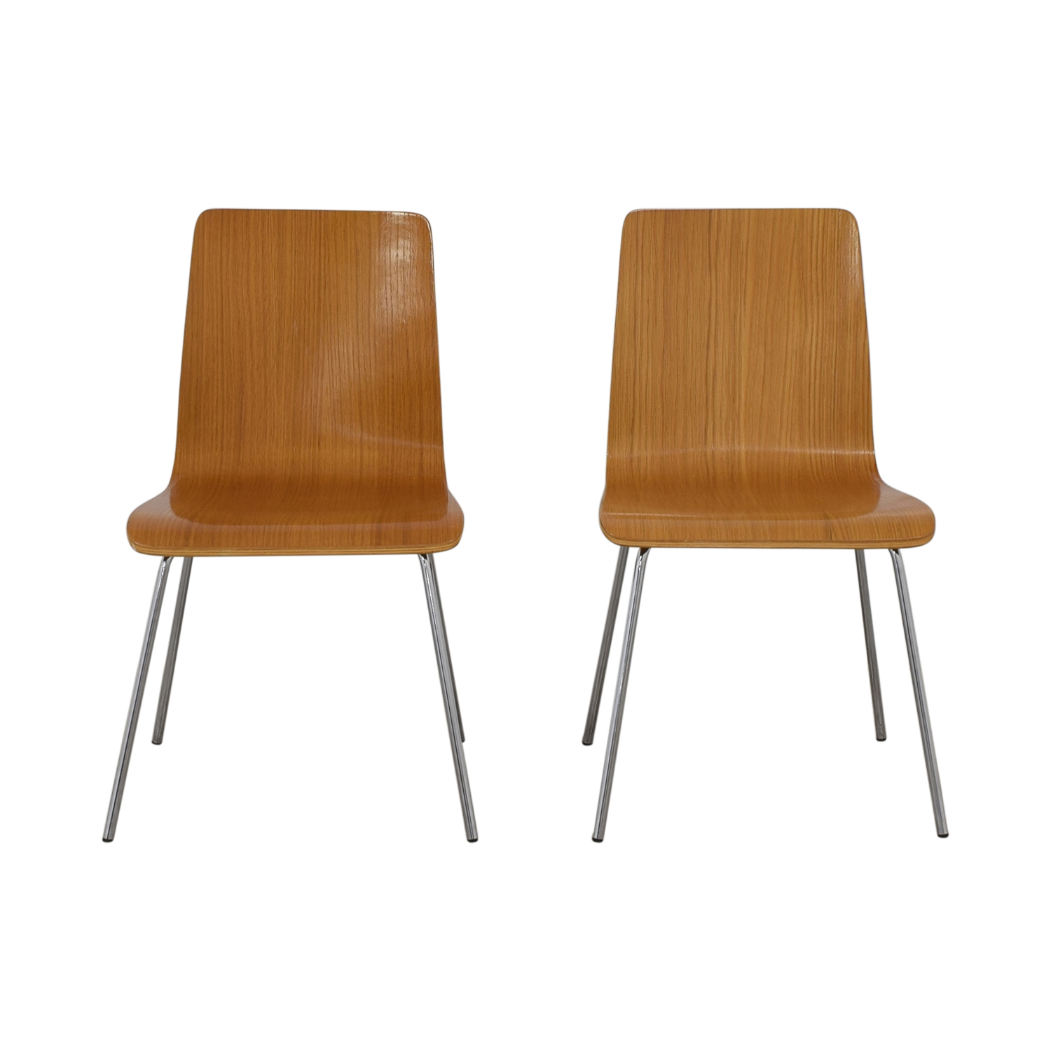 buy CB2 Brown Grain Accent Dining Chairs CB2