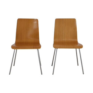 CB2 CB2 Brown Grain Accent Dining Chairs