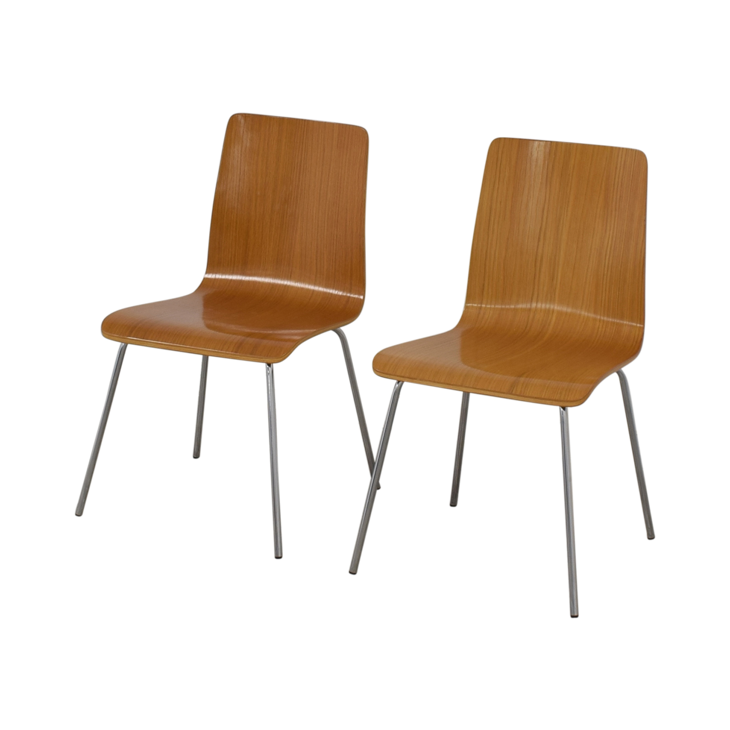 buy CB2 Brown Grain Accent Dining Chairs CB2 Chairs