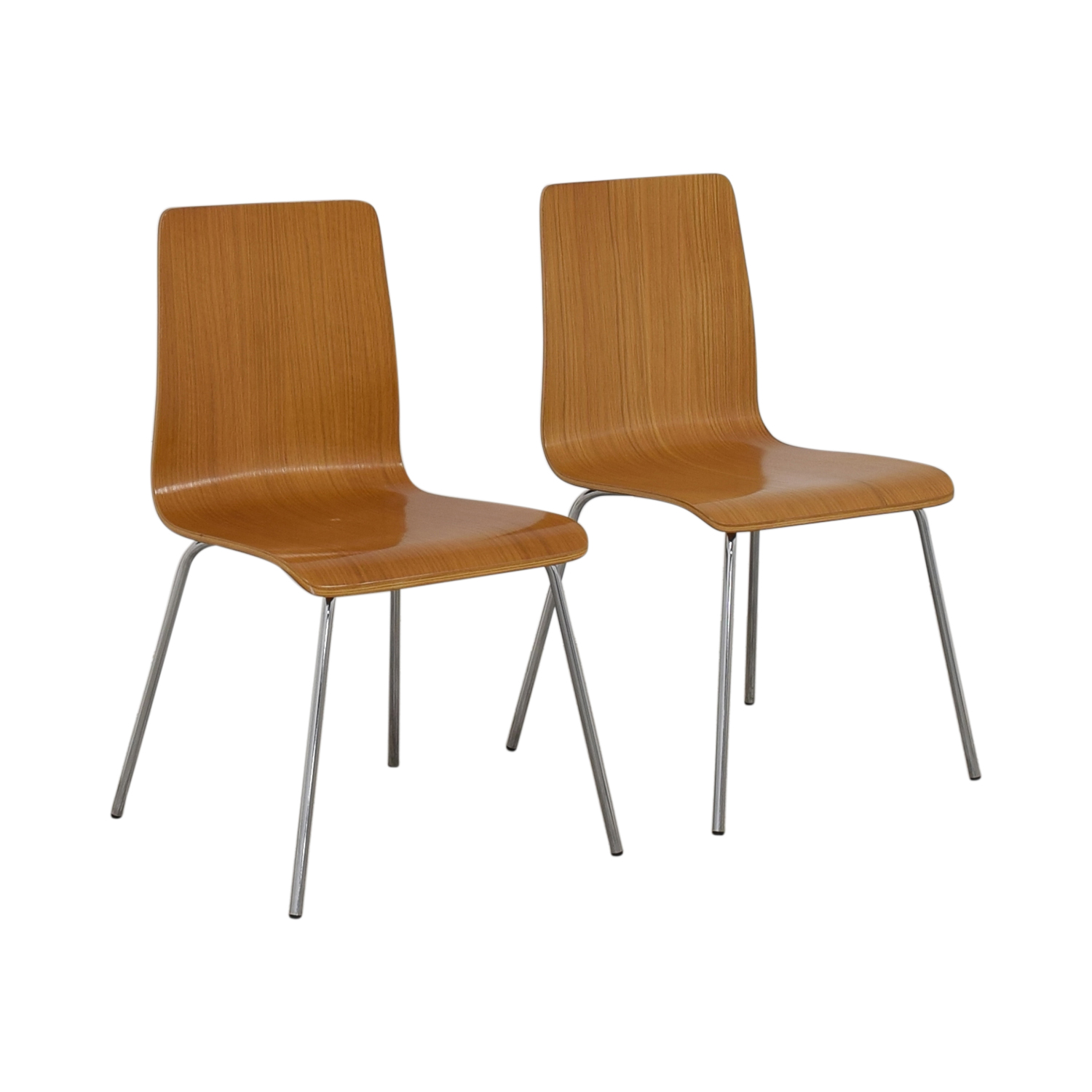 CB2 CB2 Brown Grain Accent Dining Chairs used