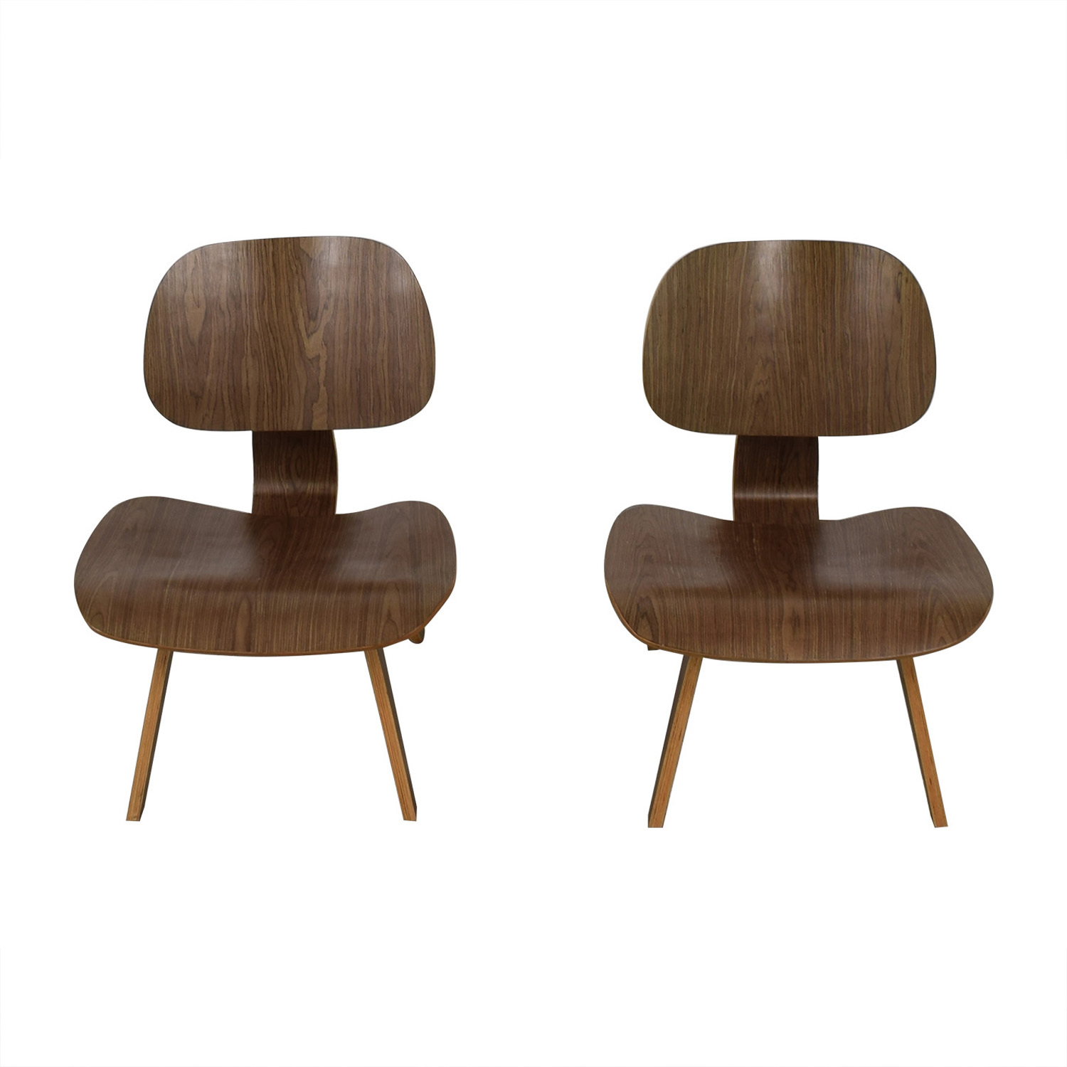 Modway Modway Natural Fathom Plywood Dining Chairs second hand
