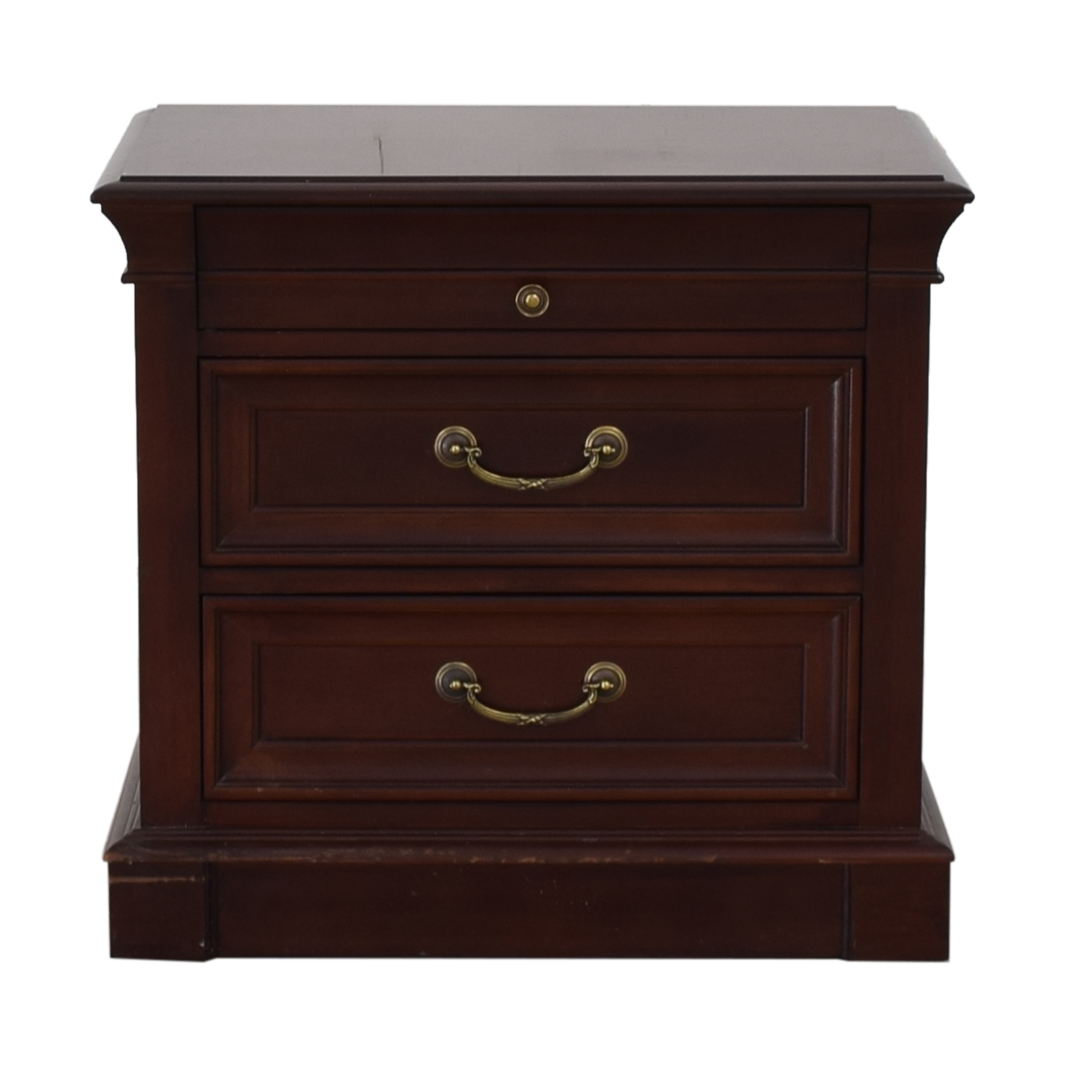 Ethan Allen Three-Drawer Nightstand / Tables
