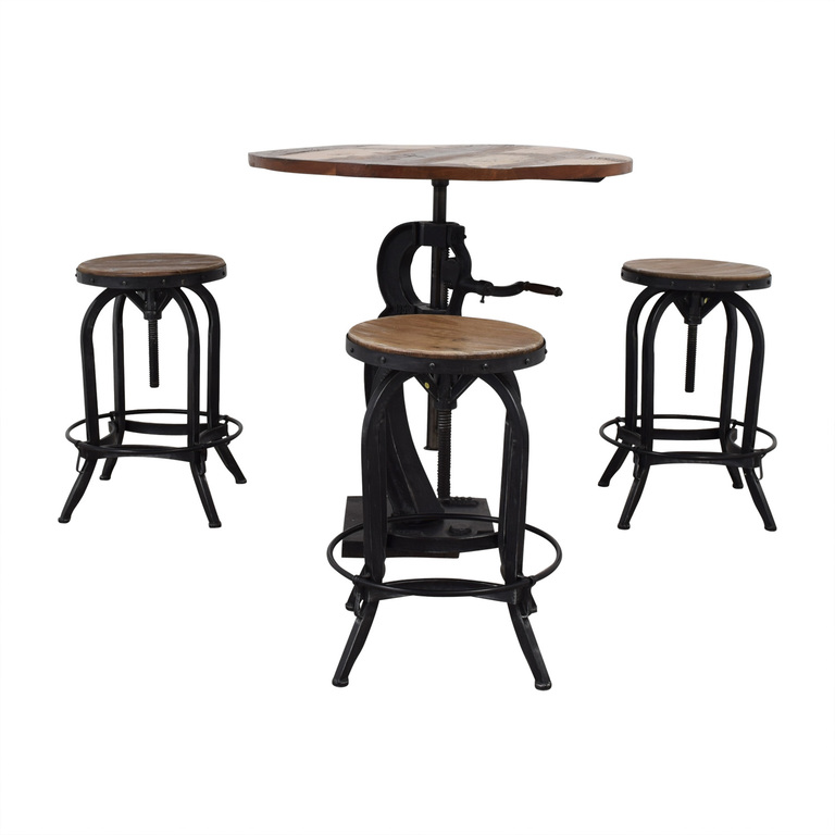 Overstock Overstock Paria Collection Solid Mango Wood Table and Chairs nyc