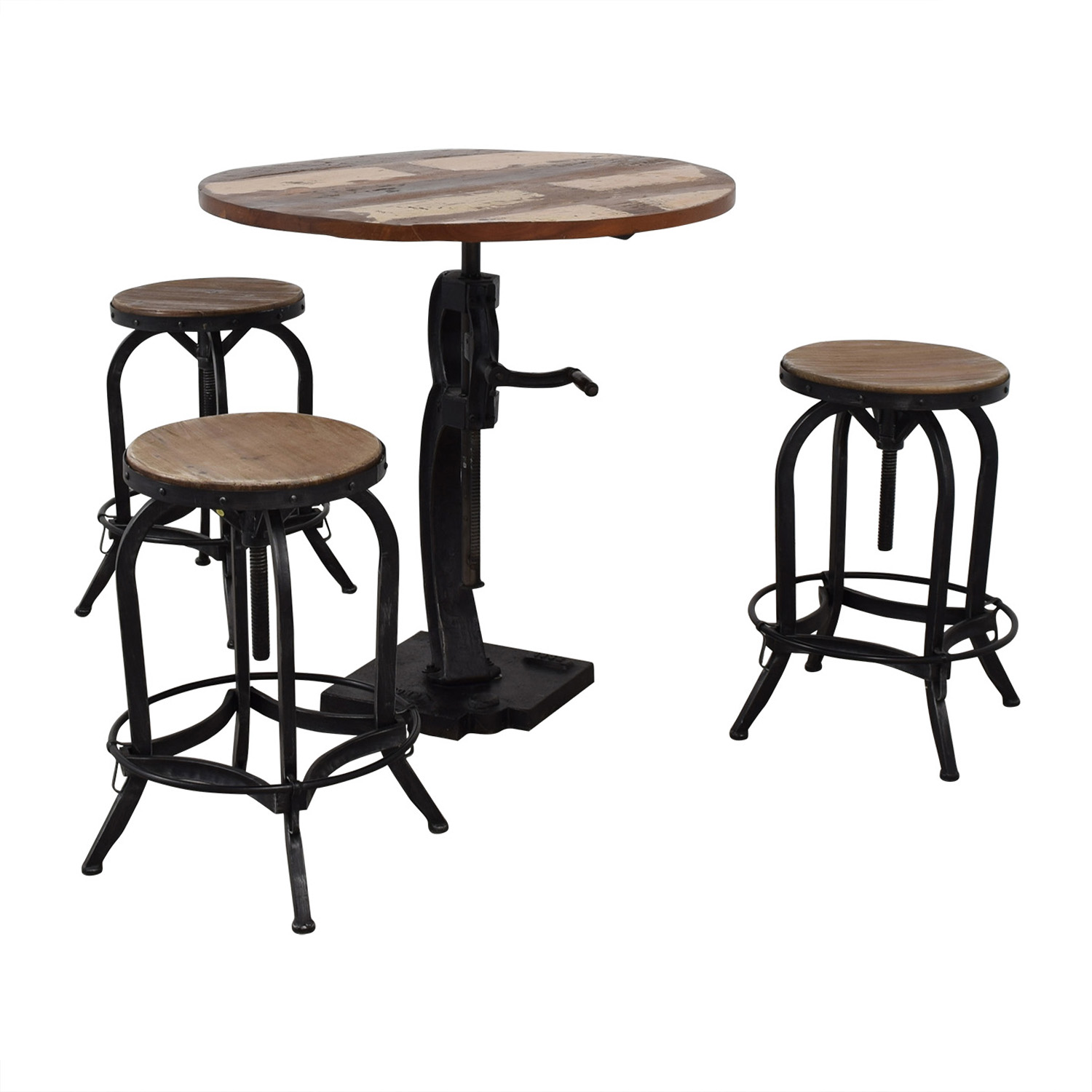 shop Overstock Overstock Paria Collection Solid Mango Wood Table and Chairs online