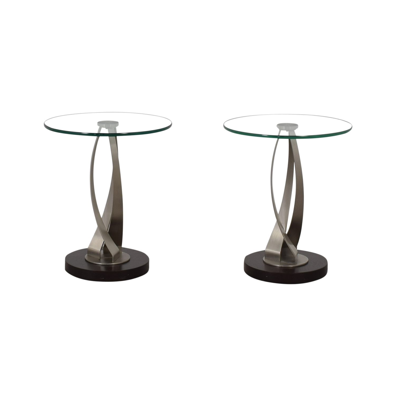 shop Pier 1 Round Glass Side Tables Pier 1