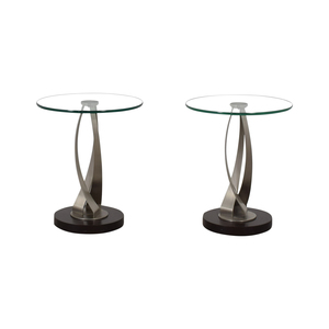 Pier 1 Round Glass Side Tables / Tables