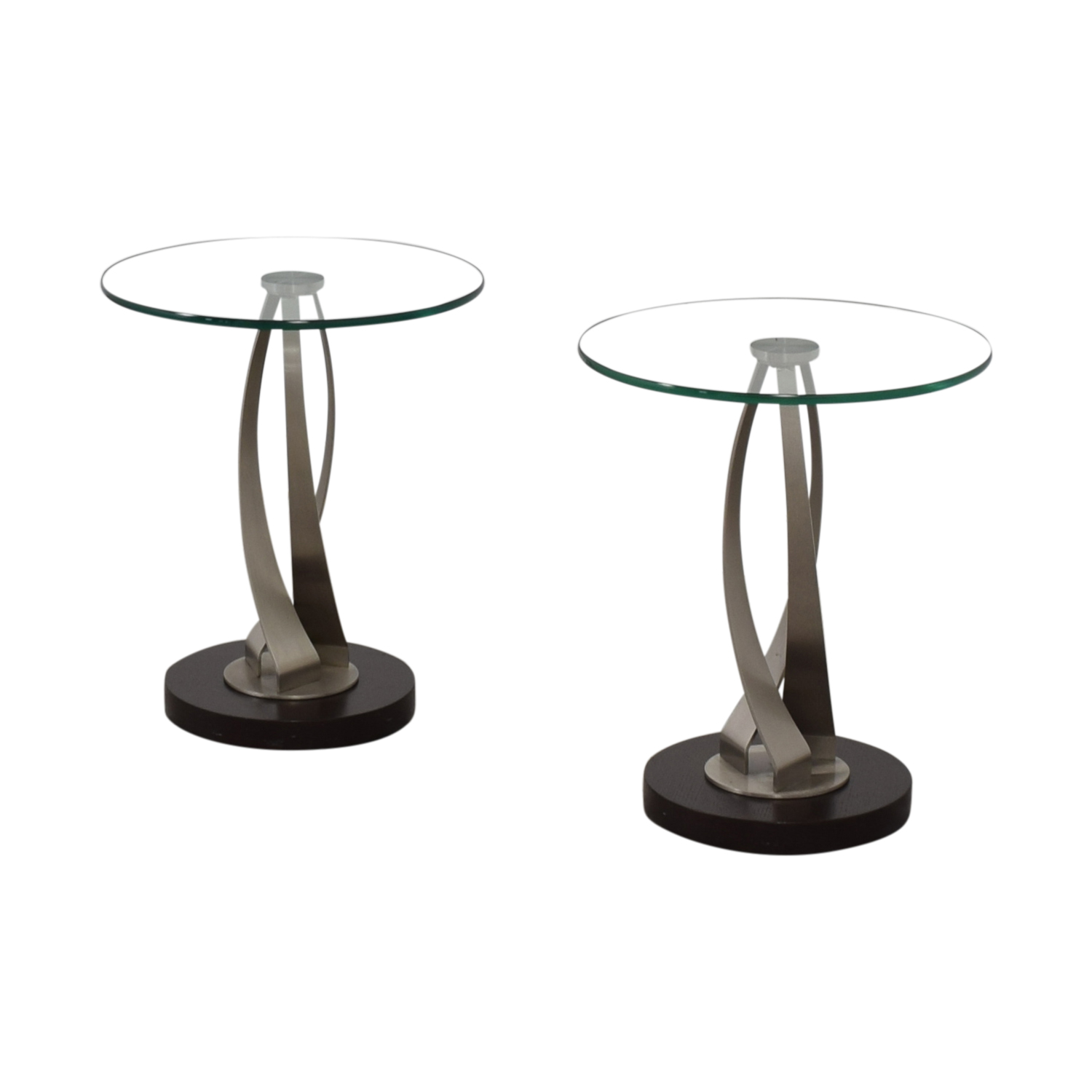 buy Pier 1 Round Glass Side Tables Pier 1 Tables