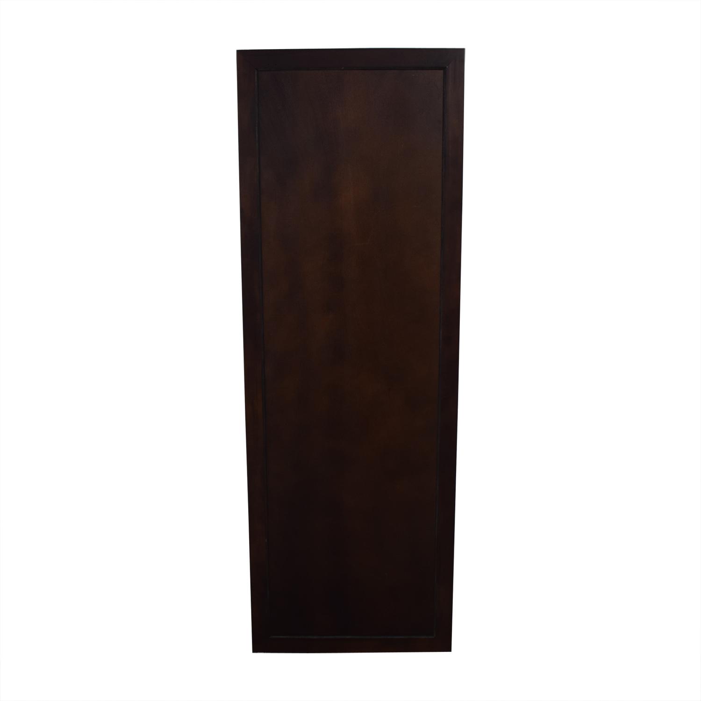 Crate & Barrel Wood Framed Floor Mirror sale