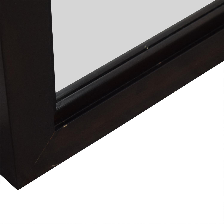shop Crate & Barrel Wood Framed Floor Mirror Crate & Barrel Decor